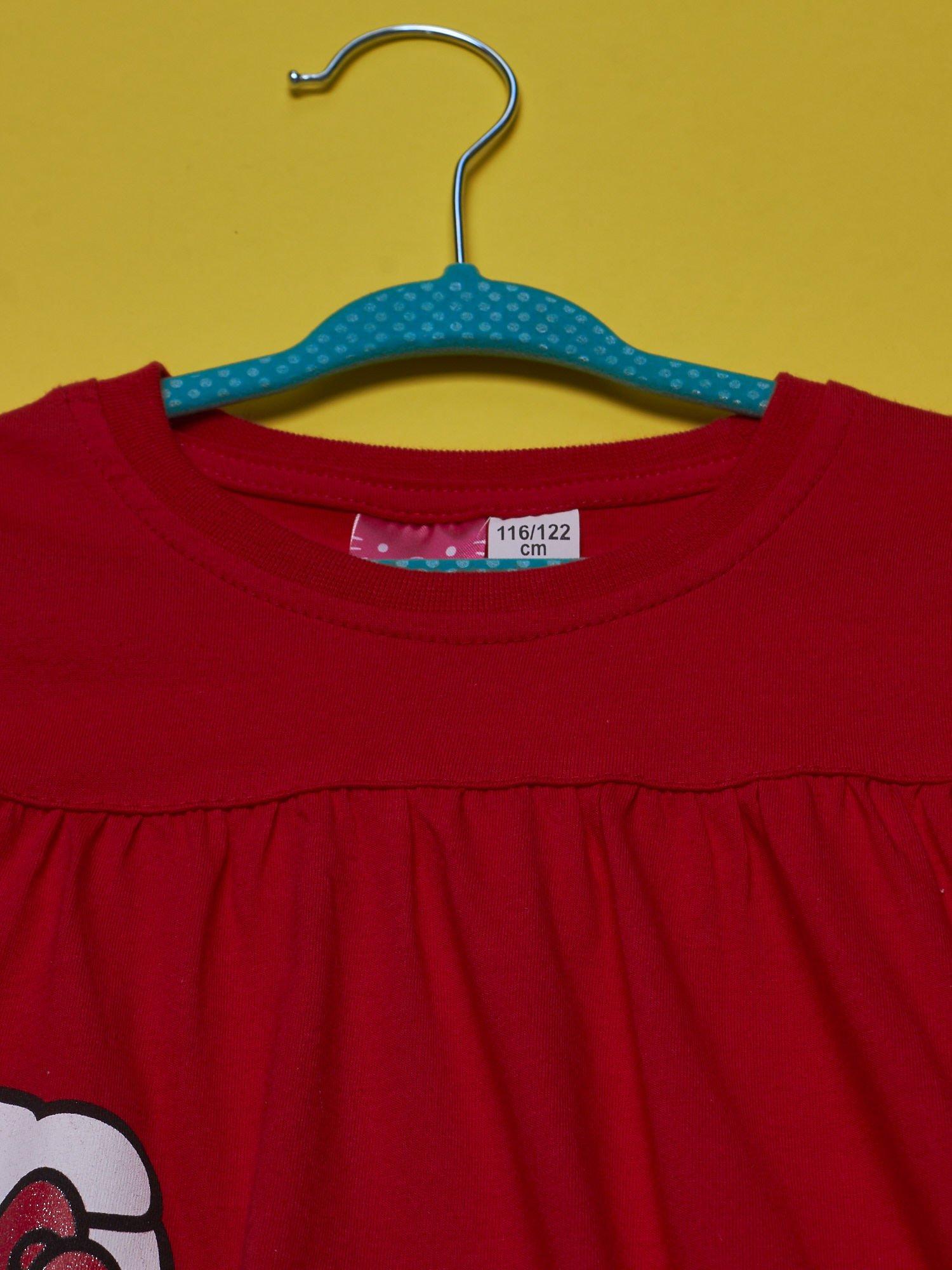 Czerwony t-shirt dla dziewczynki HELLO KITTY                                  zdj.                                  4