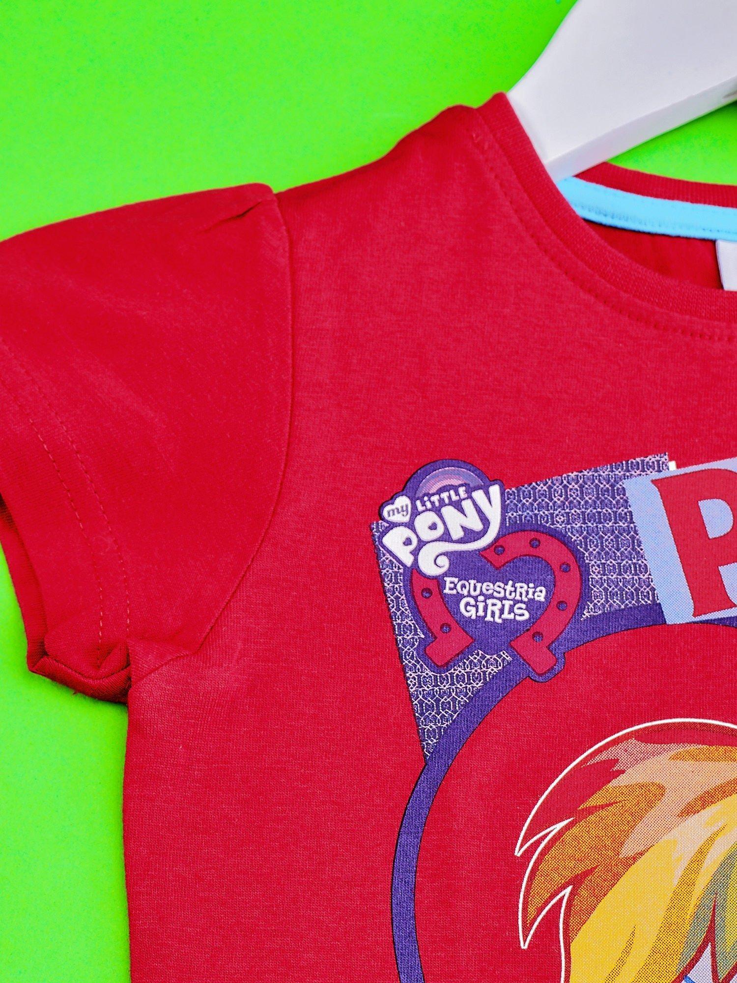 Czerwony t-shirt dla dziewczynki z nadrukiem MY LITTLE PONY                                   zdj.                                  3