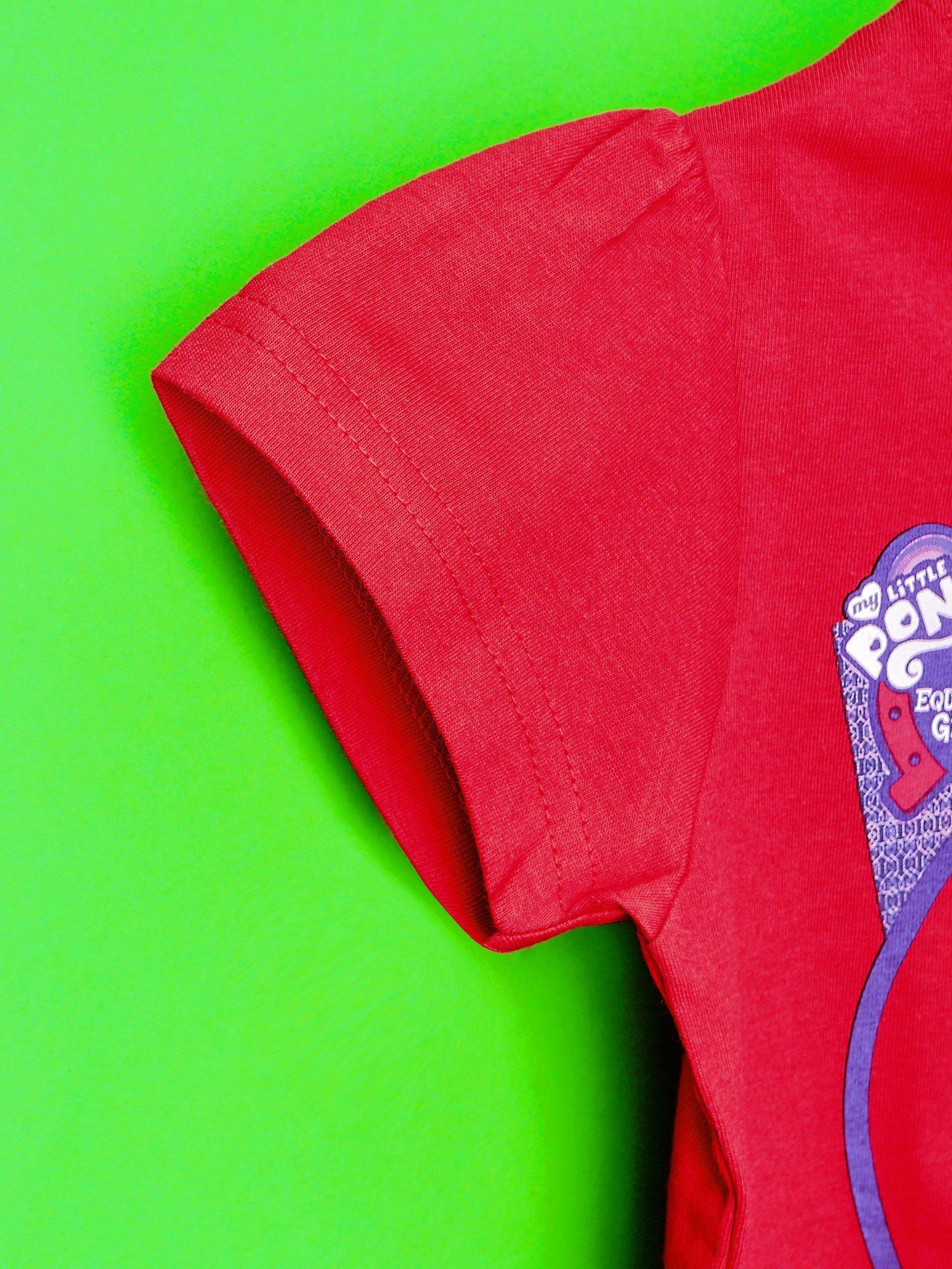 Czerwony t-shirt dla dziewczynki z nadrukiem MY LITTLE PONY                                   zdj.                                  6