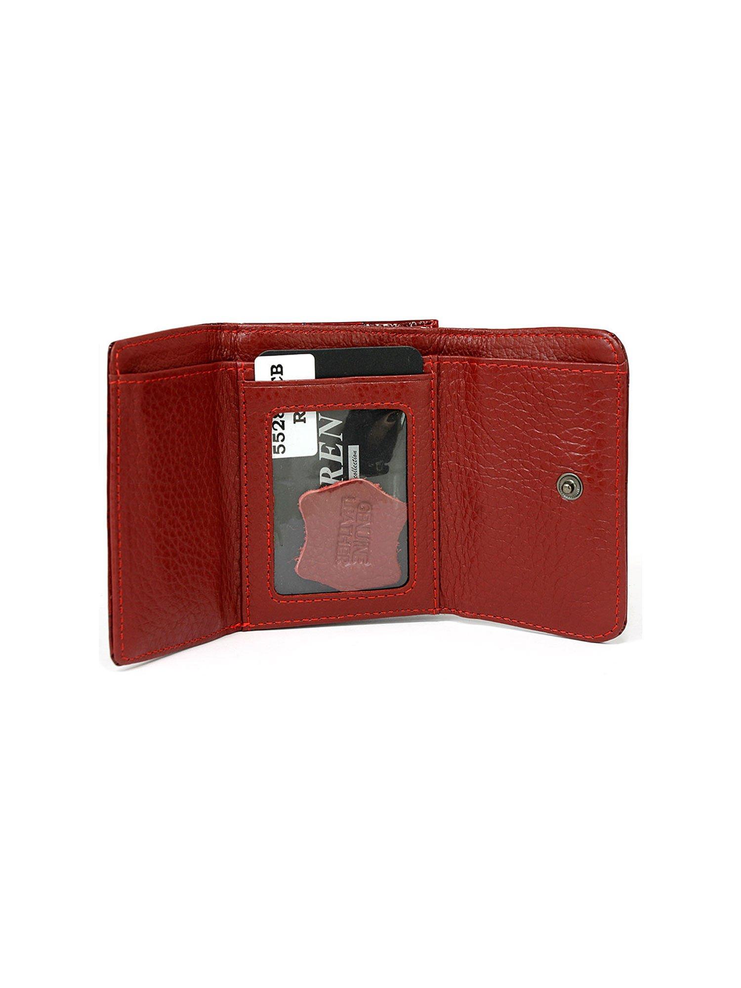 6949f6abdfc97 Damski czerwony portfel skórzany - Akcesoria portfele - sklep eButik.pl