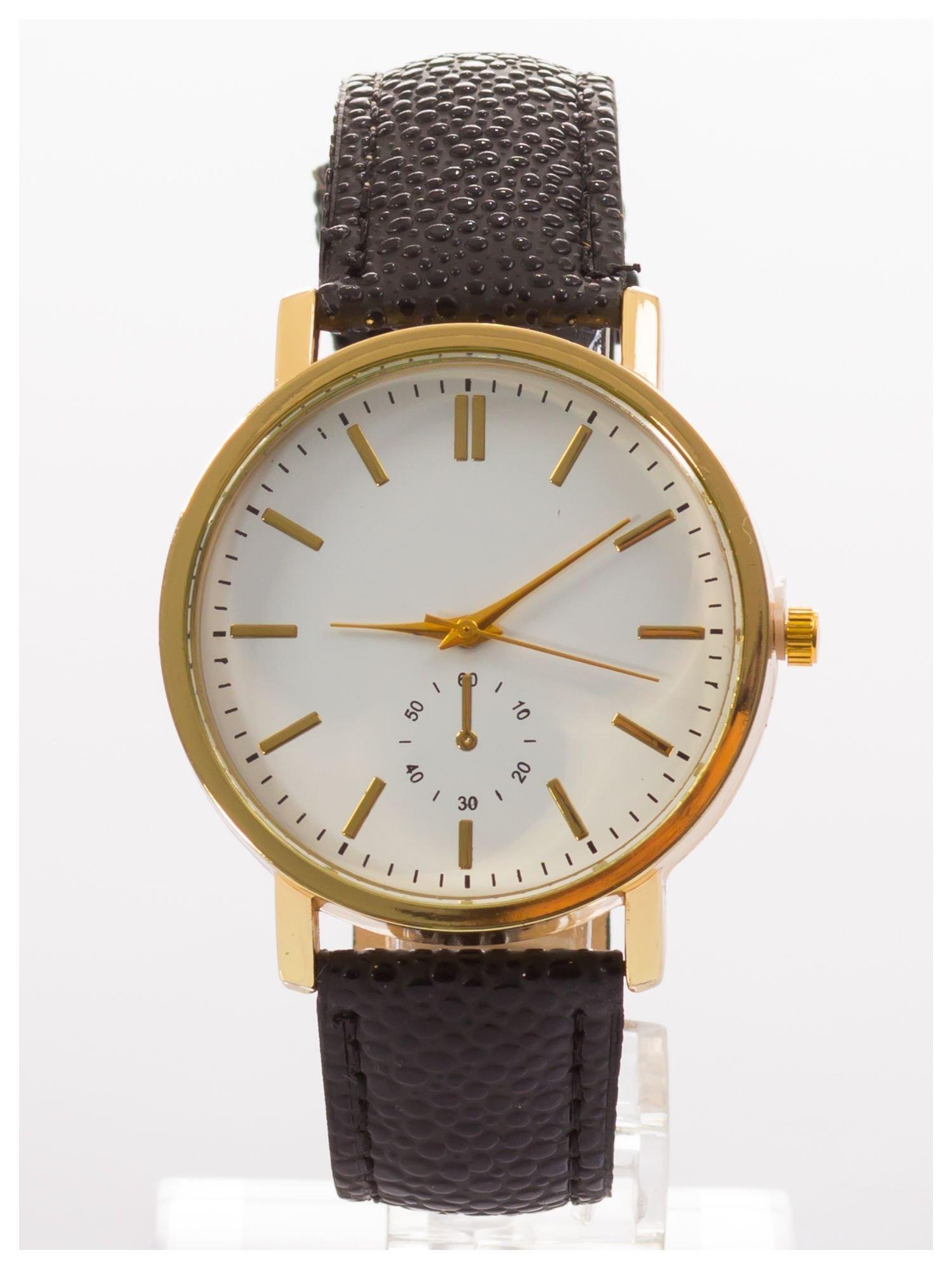 Damski zegarek. Duża, wyraźna tarcza. Elegancki. Ozdobny datownik. Doskonały na każdą okazję.                                   zdj.                                  1