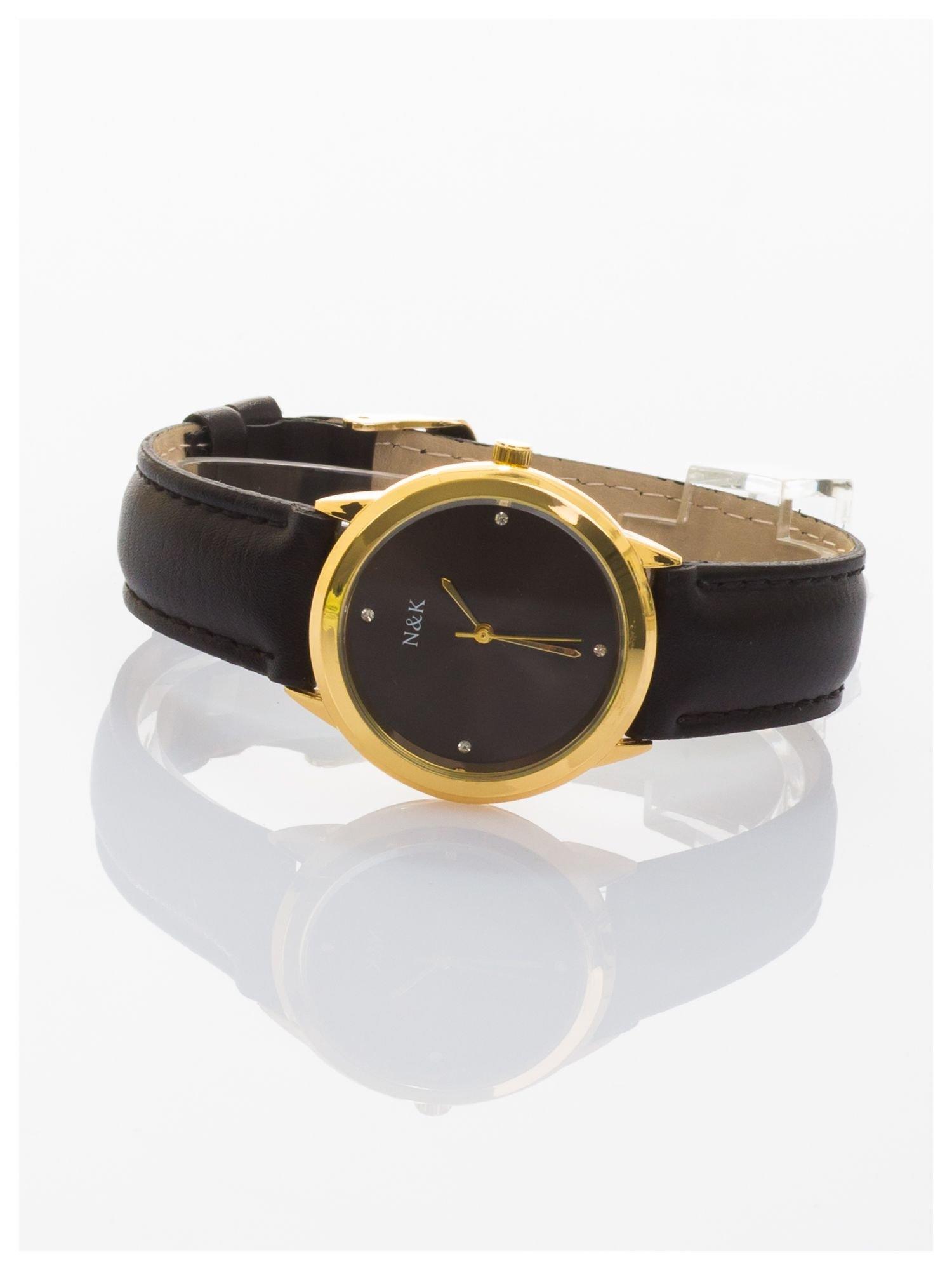 Damski zegarek z cyrkoniami. Mała, czytelna tarcza                                  zdj.                                  2