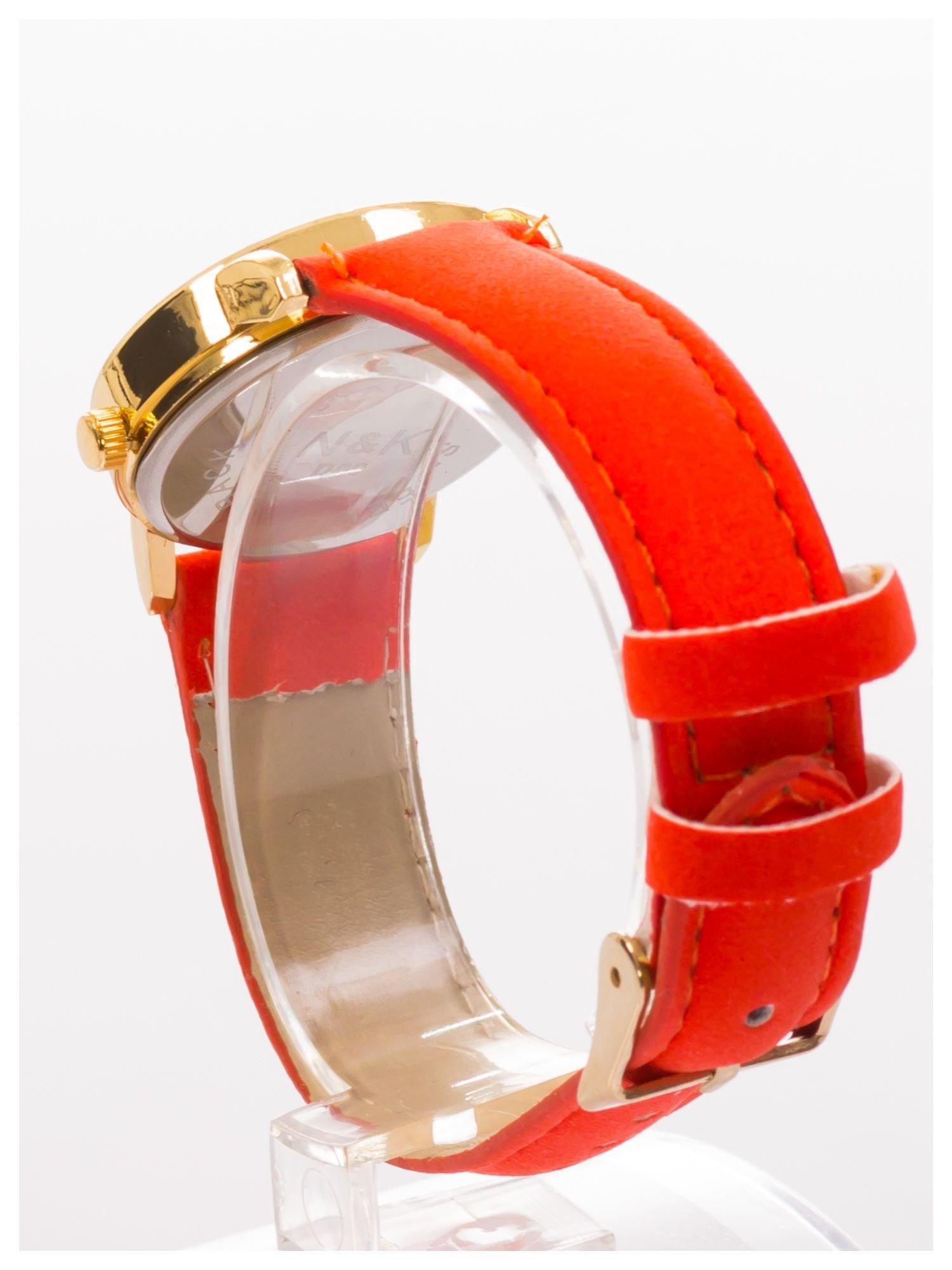 Damski zegarek z cyrkoniami, na welurowym pasku. Klasyczny z nutką elegancji.Poczuj się wyjątkowo!                                  zdj.                                  4