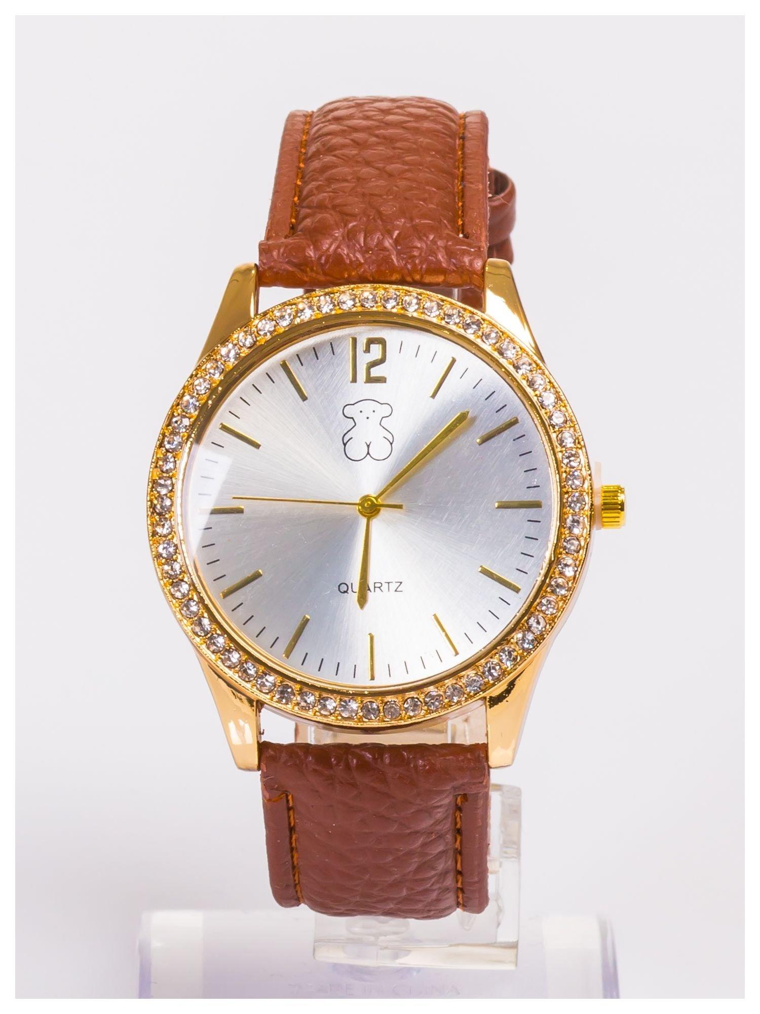 Damski zegarek z cyrkoniami z dużą wyraźną tarczą                                  zdj.                                  1