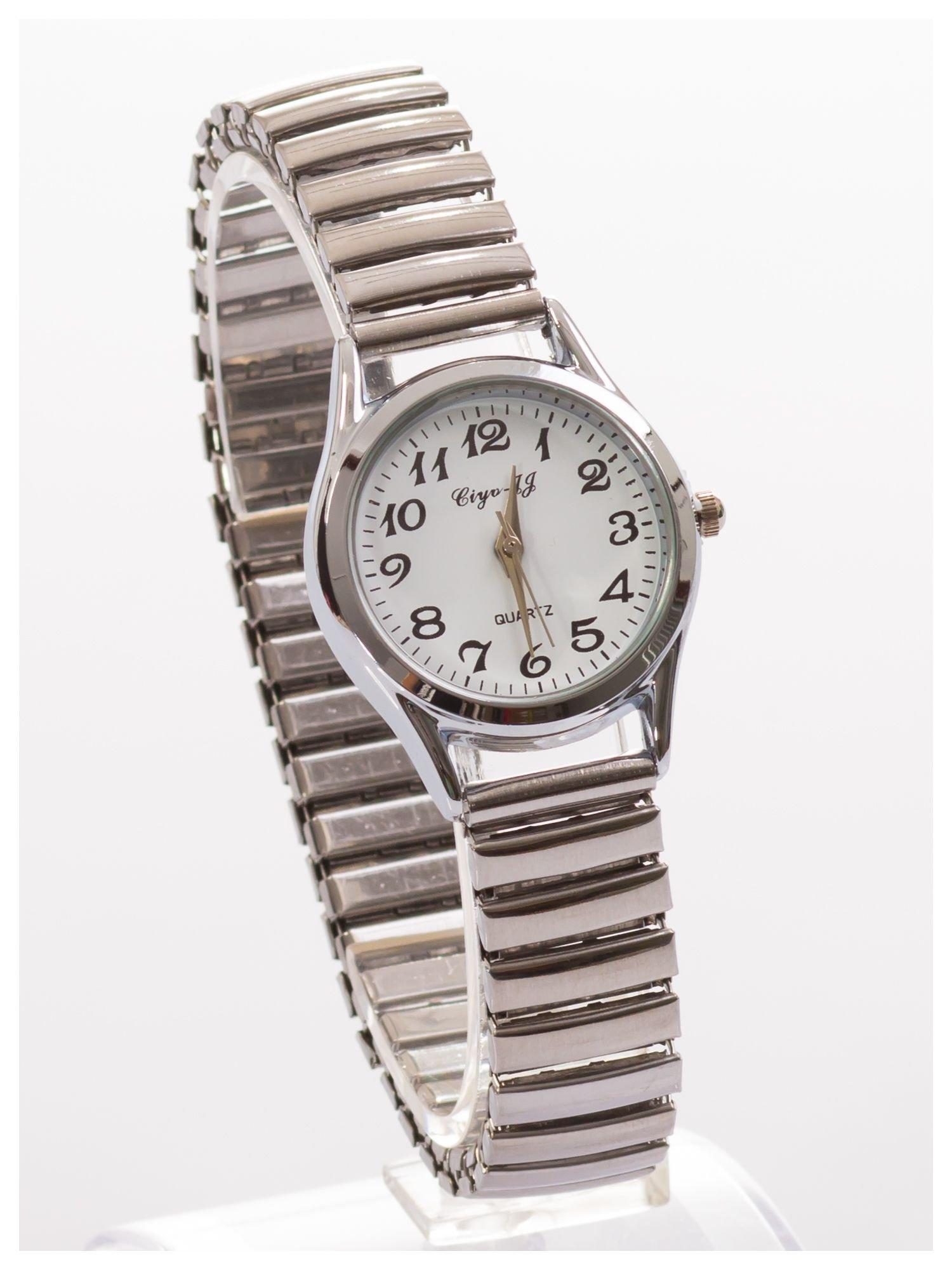 Delikatny damski zegarek na elastycznej bransolecie                                  zdj.                                  3