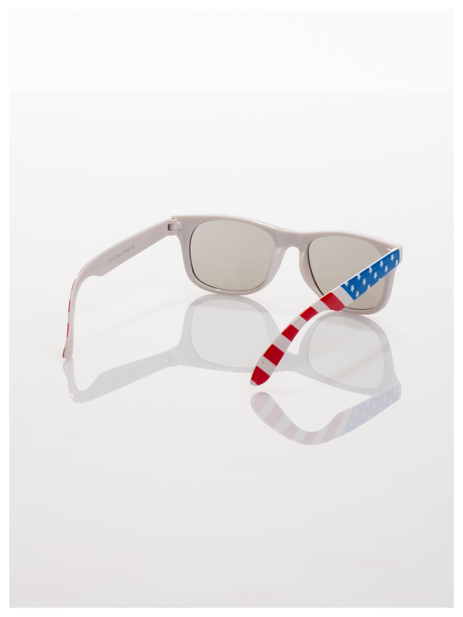 Dziecięce okulary z klasyczną oprawką WAYFARER NERD z filtrami odporne na wyginania                                  zdj.                                  3