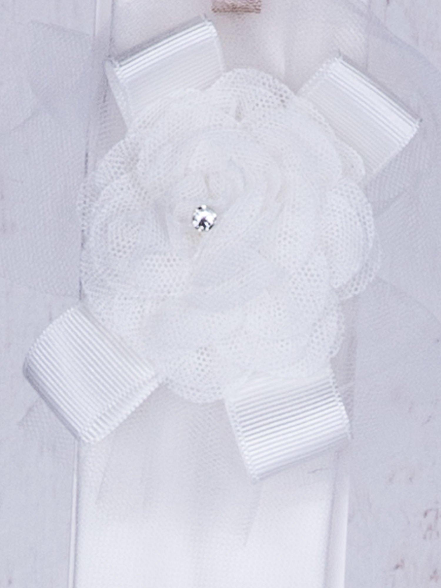 bc2bec928b Dziewczęca opaska wizytowa z tiulowym kwiatem ecru - Dziecko ...
