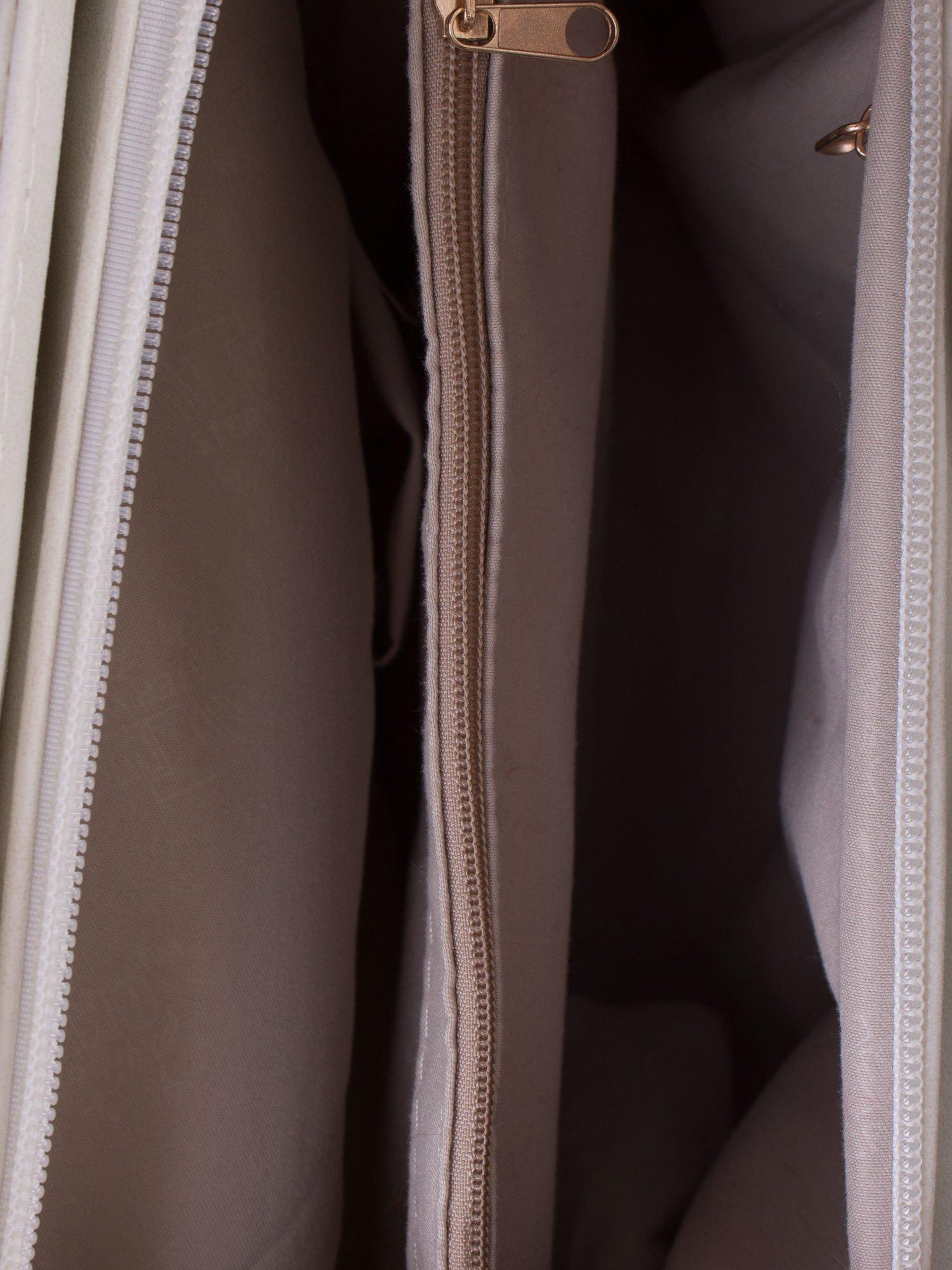 Ecru ażurowa torba na ramię                                  zdj.                                  4