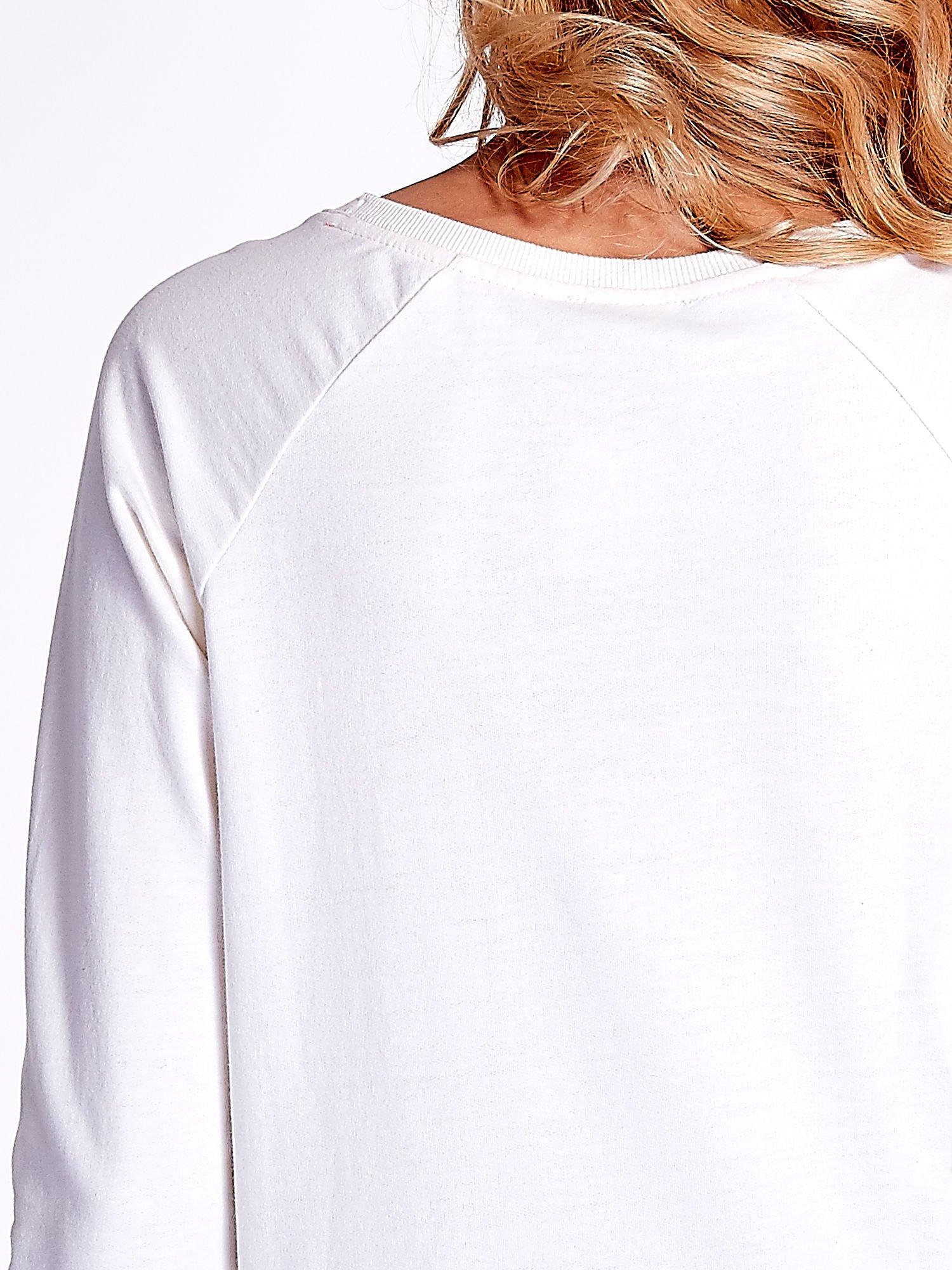 Ecru bluza z napisem I AM FREAKING COLD                                  zdj.                                  6