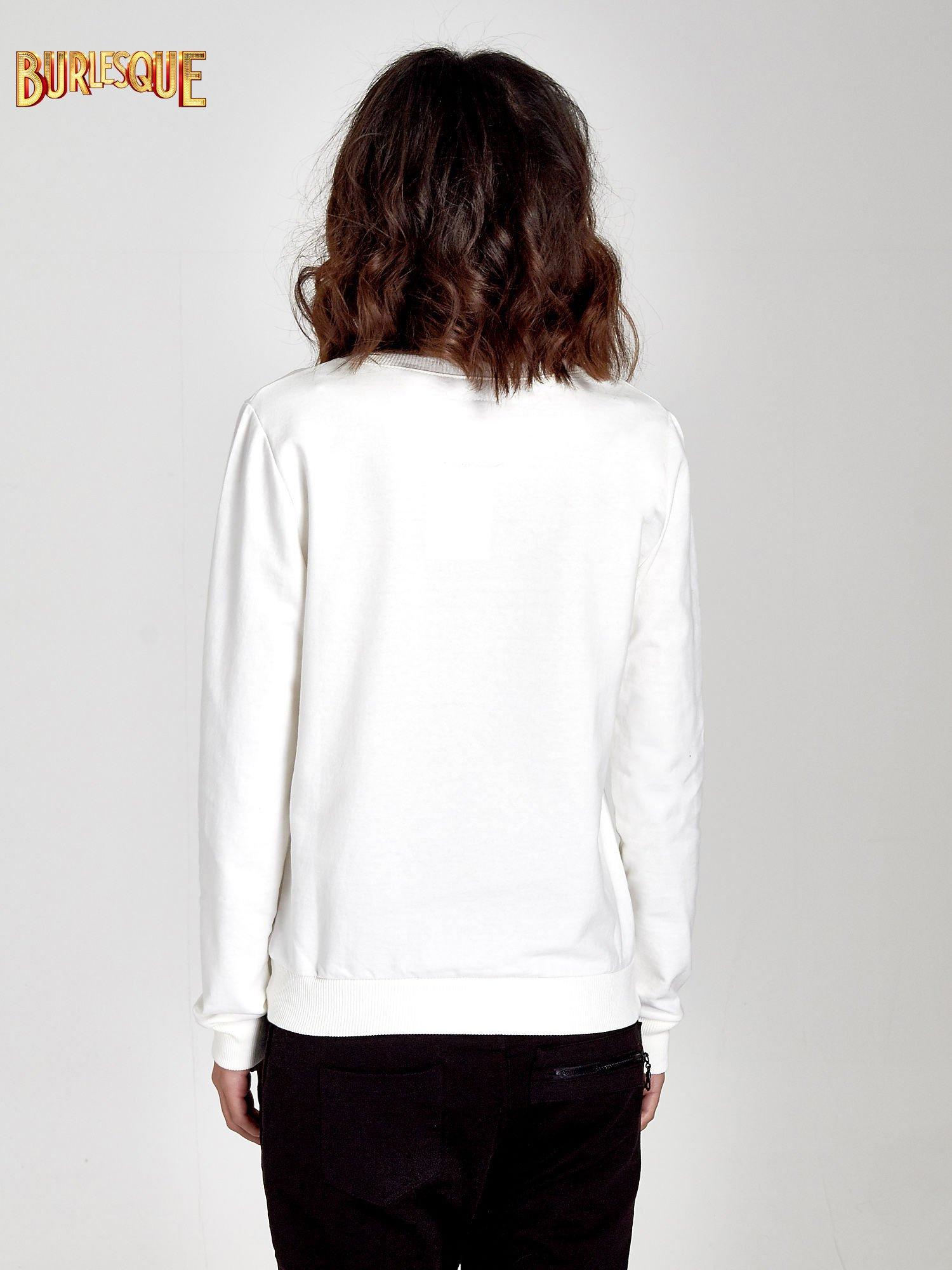 Ecru klasyczna bluza damska z napisem IN LIFE SIMPLE IS BEST                                  zdj.                                  2