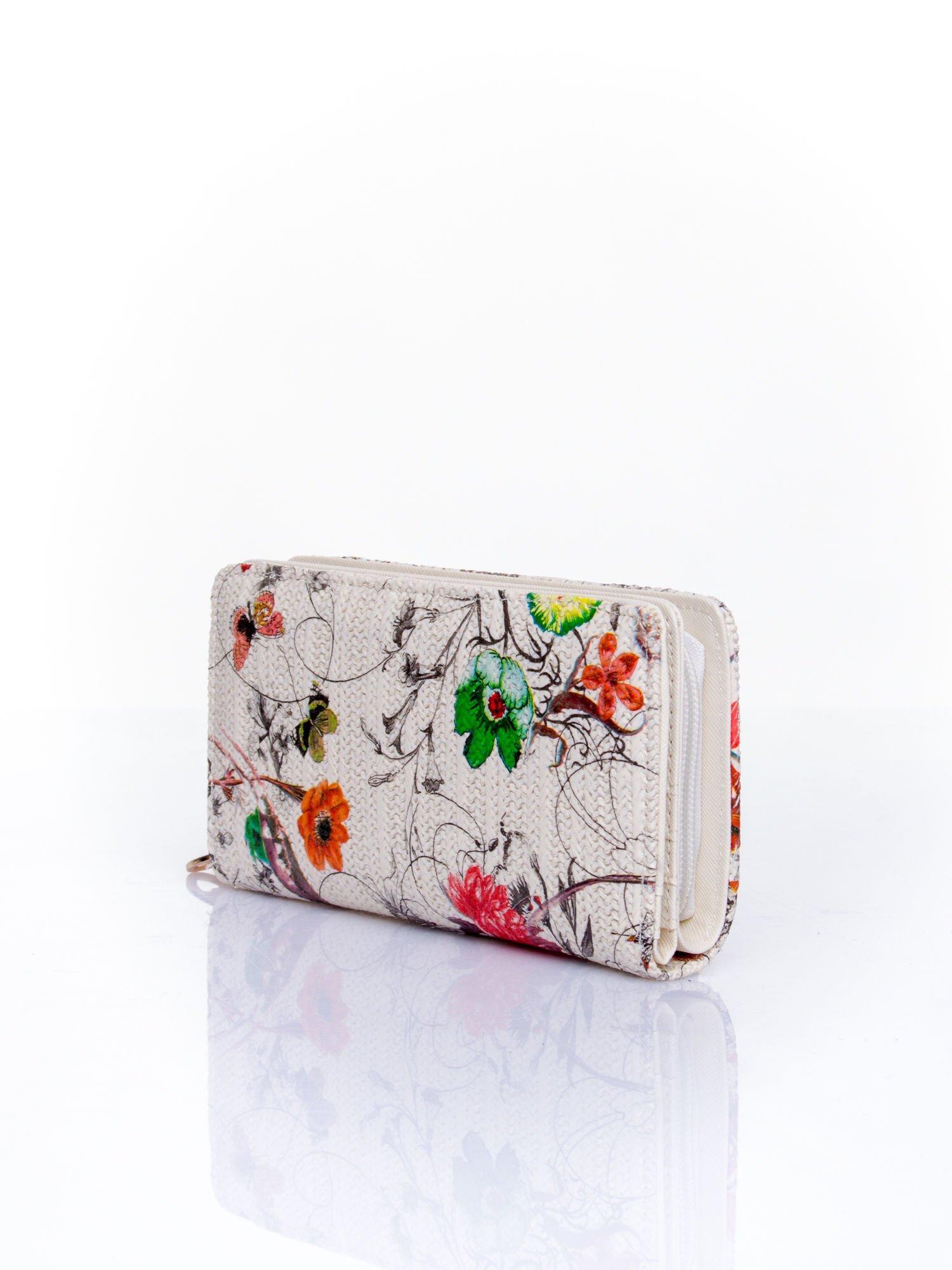 Ecru portfel z egzotycznym nadrukiem                                  zdj.                                  3