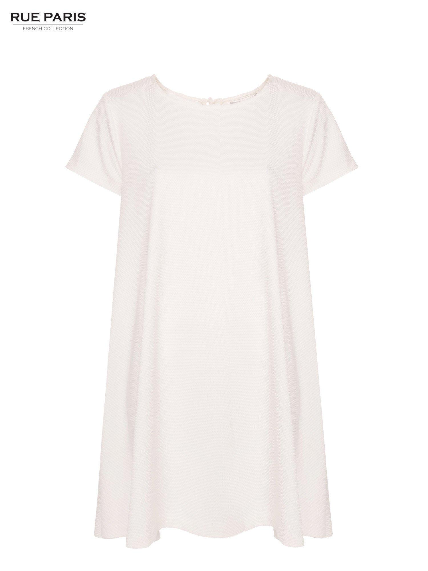 Ecru sukienka rozkloszowana dzwonek                                  zdj.                                  2