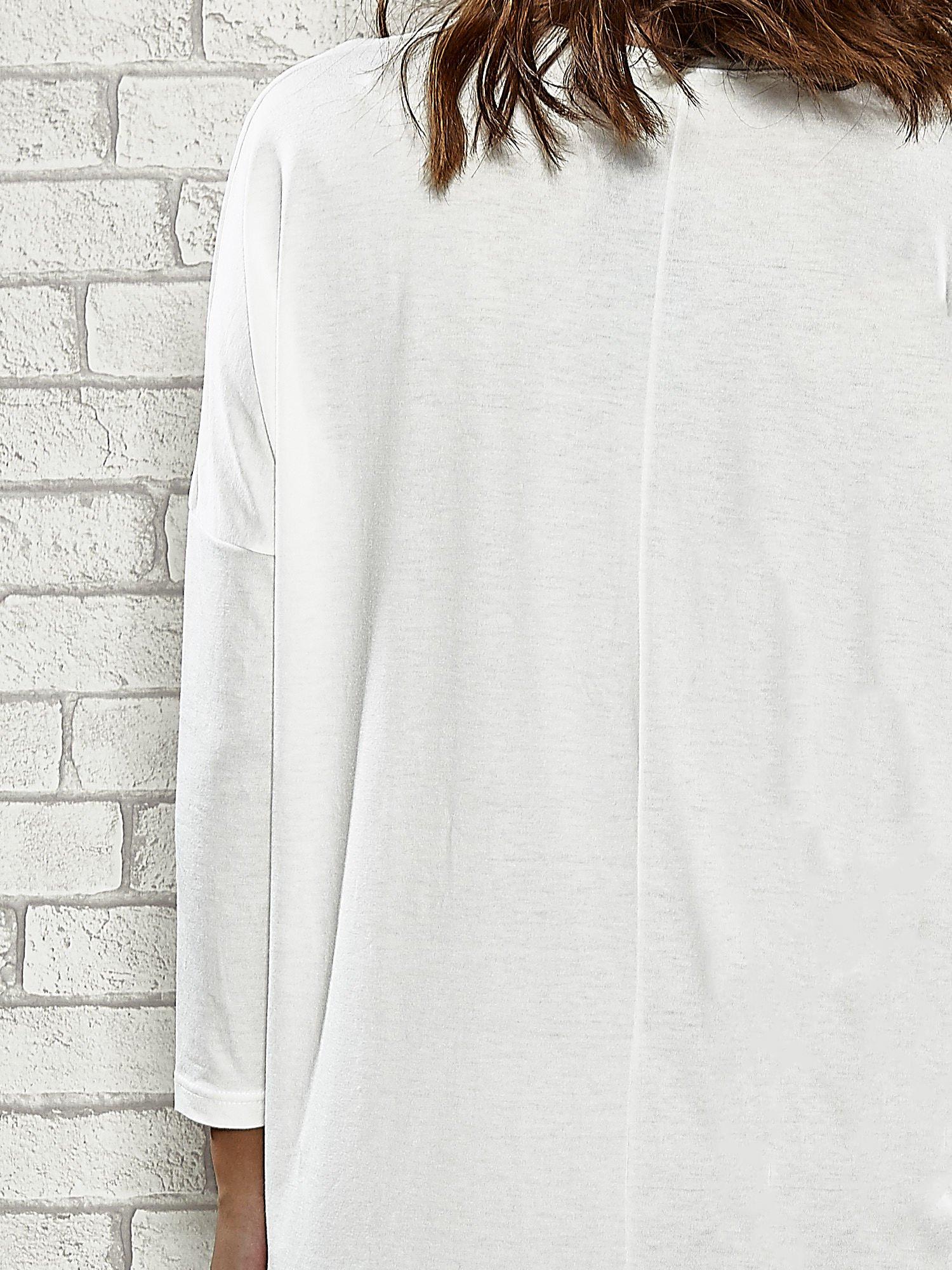 Ecru sukienka z rozporkami po bokach                                  zdj.                                  6