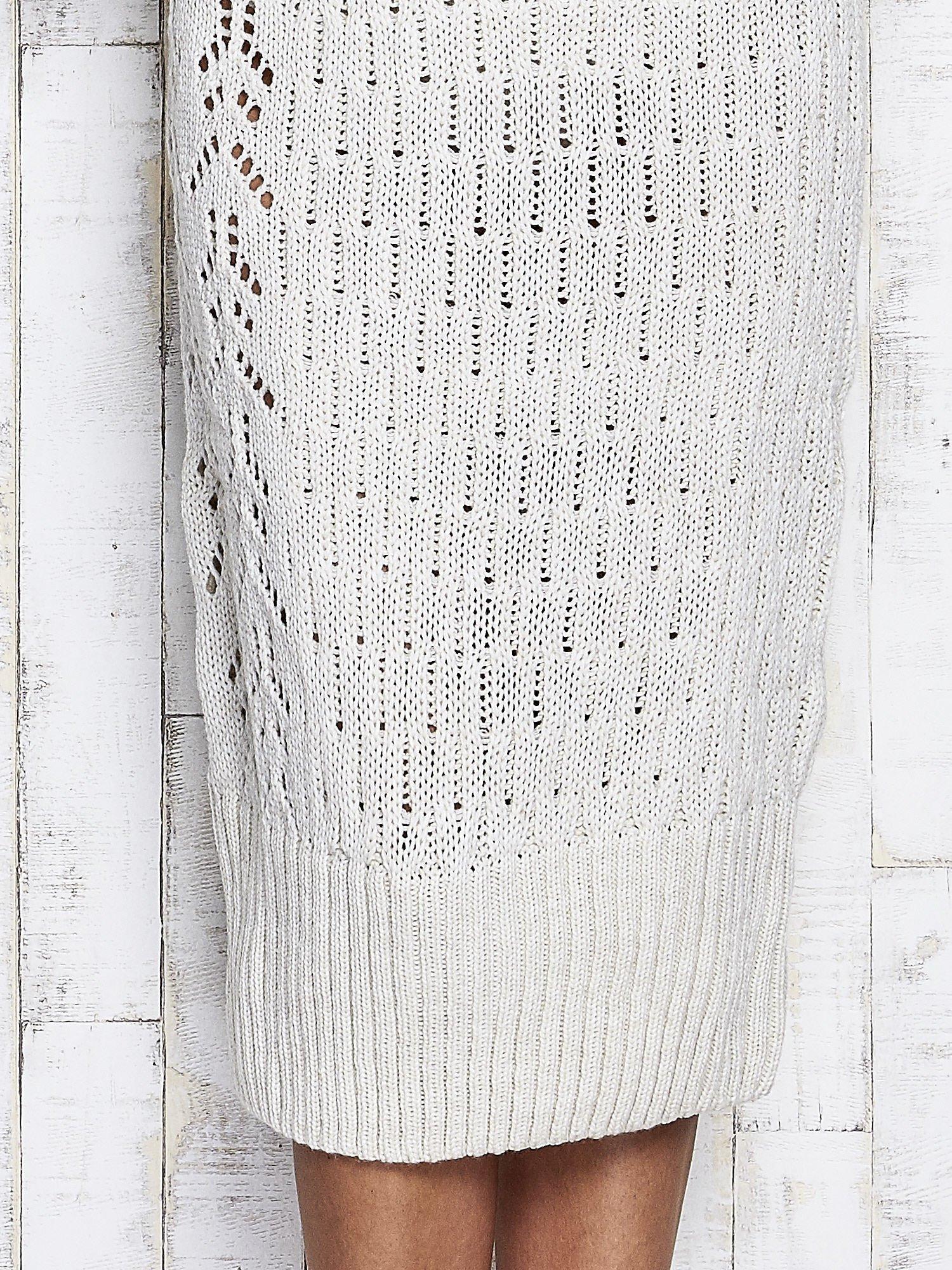 Ecru swetrowa sukienka midi                                  zdj.                                  6