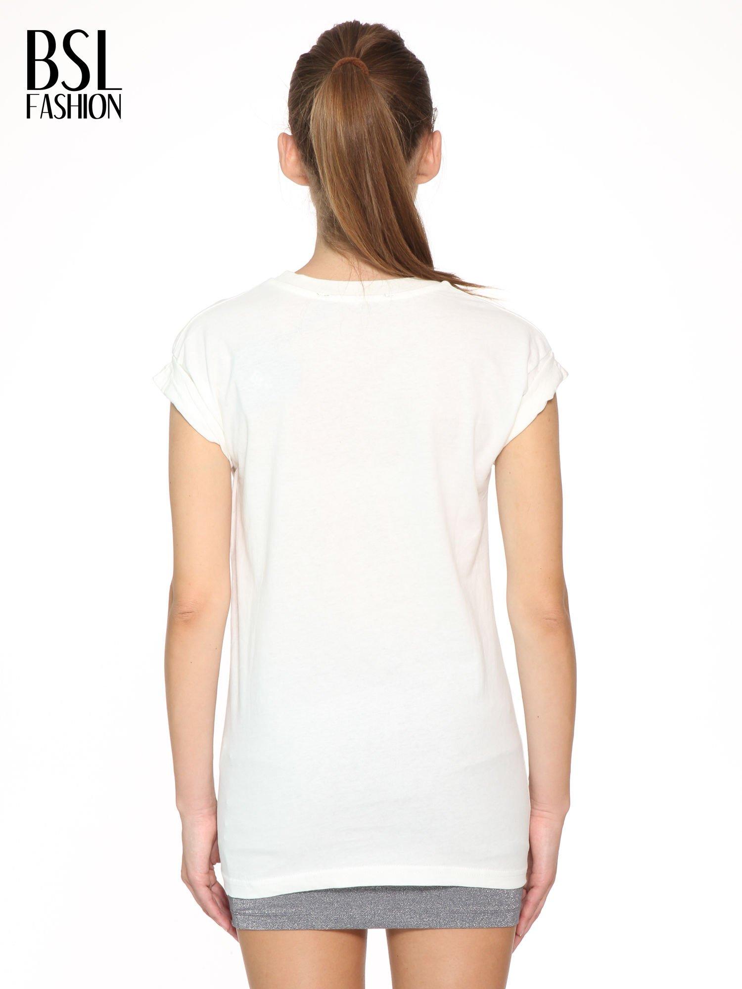 Ecru t-shirt z nadrukiem GUNS N' ROSES                                  zdj.                                  4