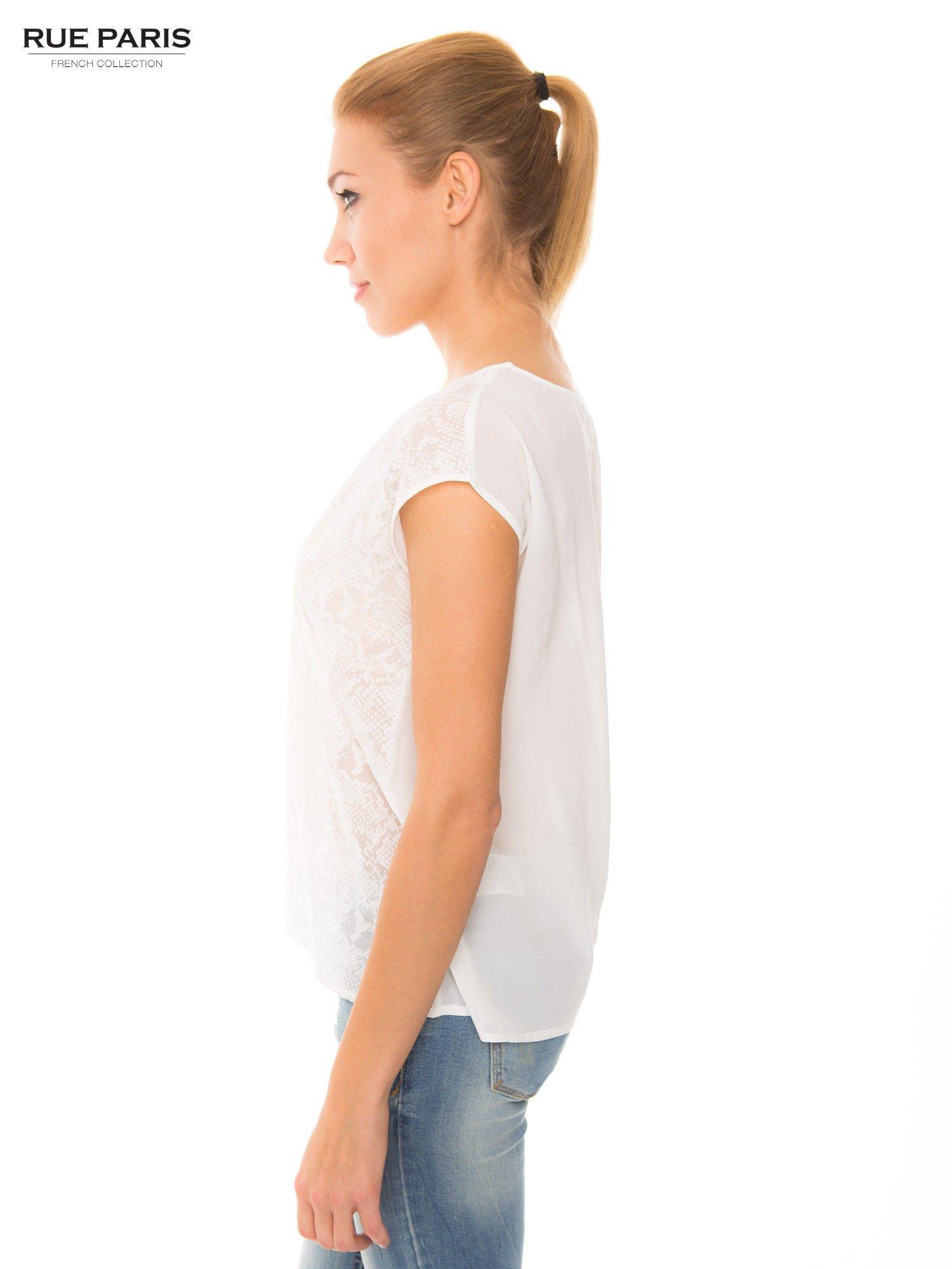 Ecru transparentna koszula                                  zdj.                                  5