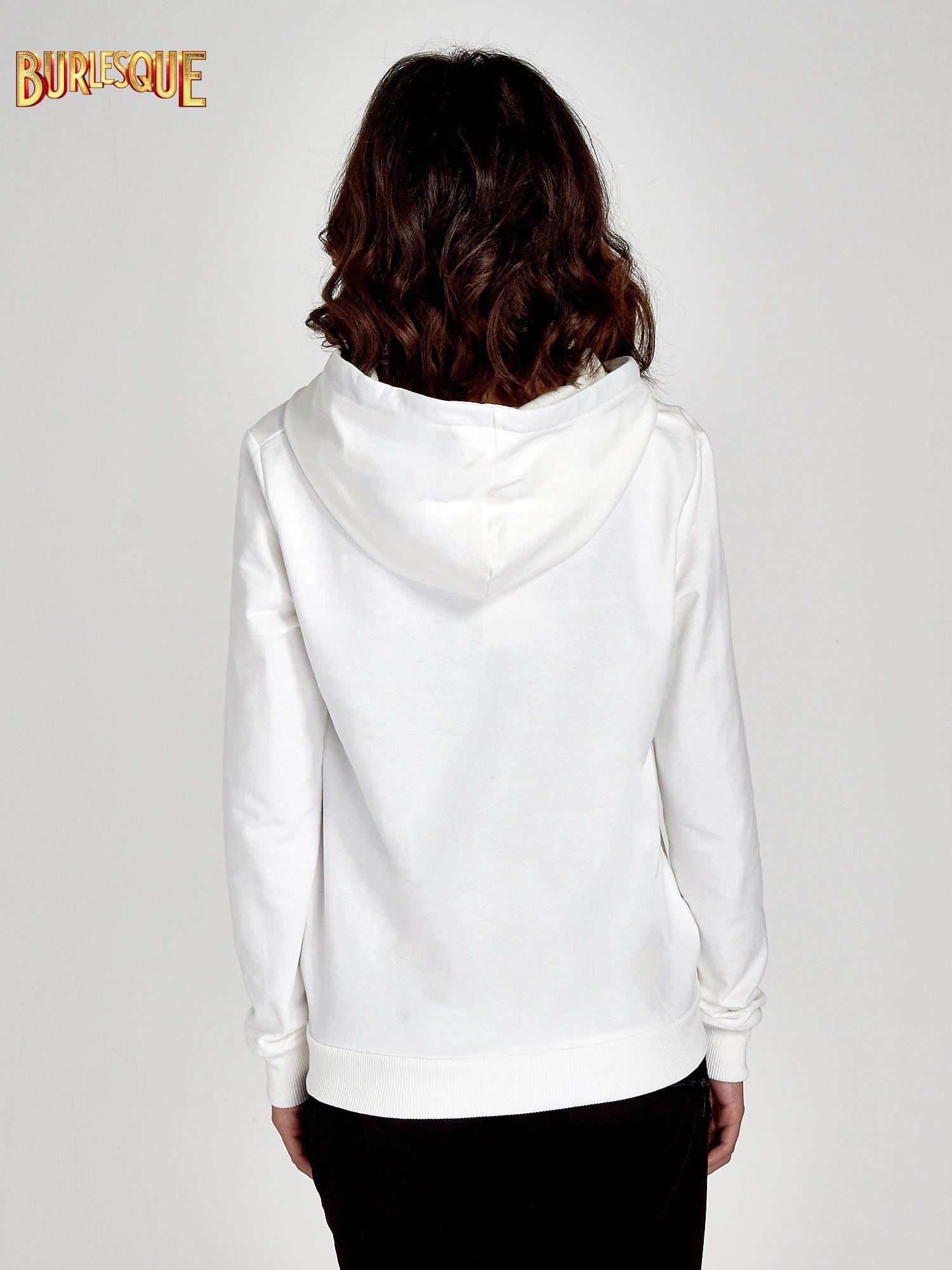 Ecru zasuwana bluza z kapturem z napisem STYLISH & LOVABLE                                  zdj.                                  2