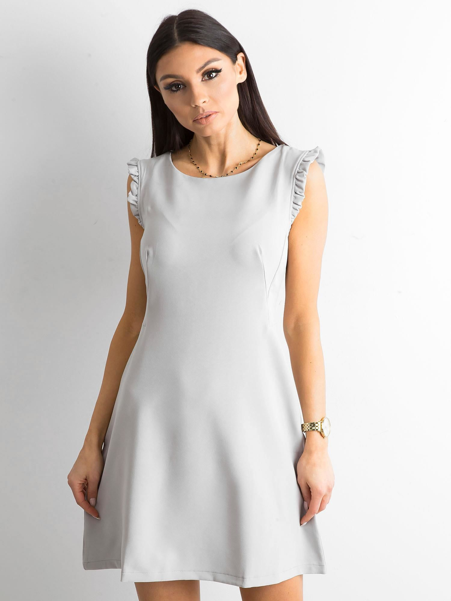 15258ae1e2 Elegancka sukienka szara - Sukienka koktajlowa - sklep eButik.pl