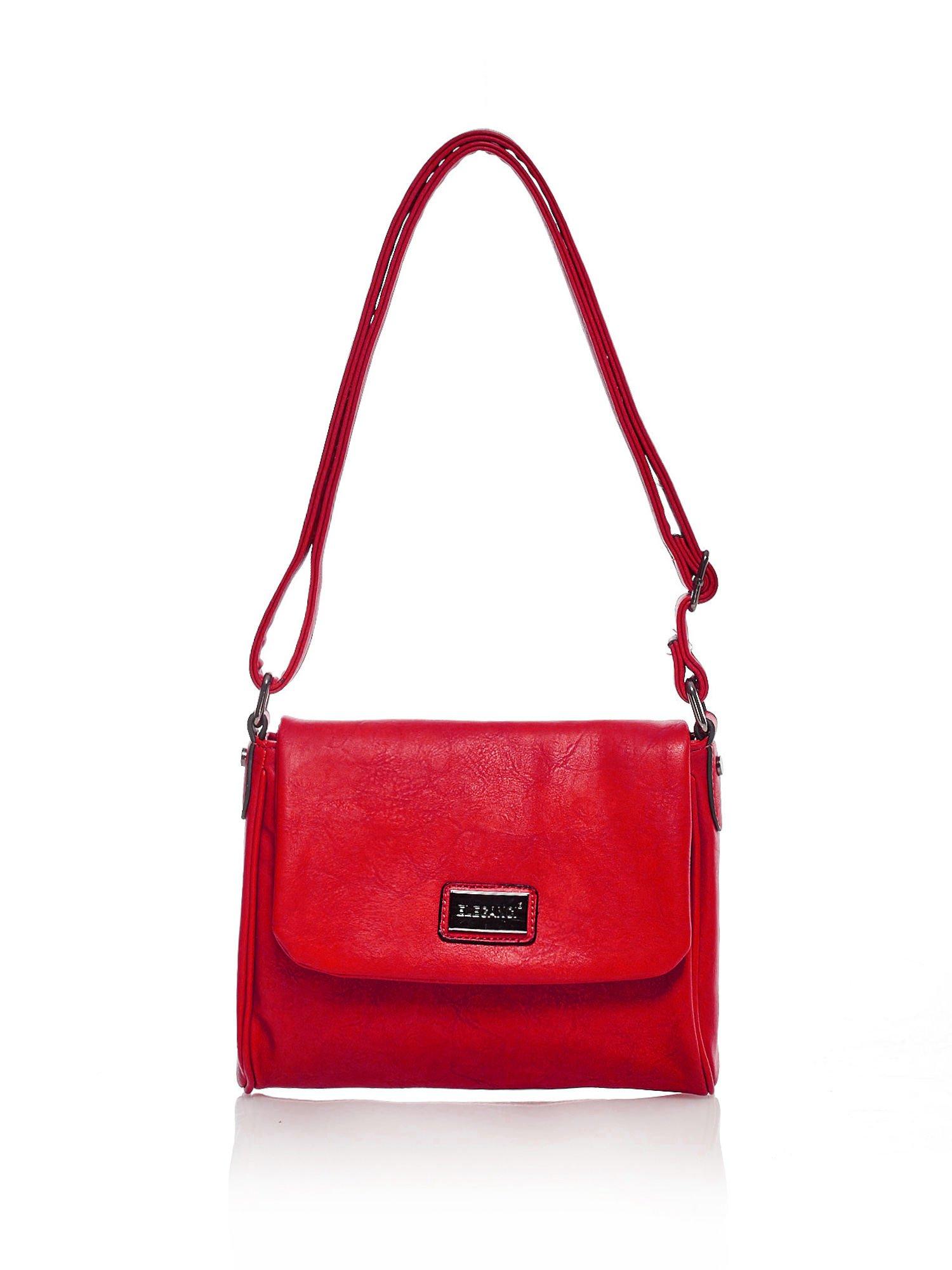 b654dad81564b Elegancka torba listonoszka z klapką na magnes czerwona - Akcesoria ...