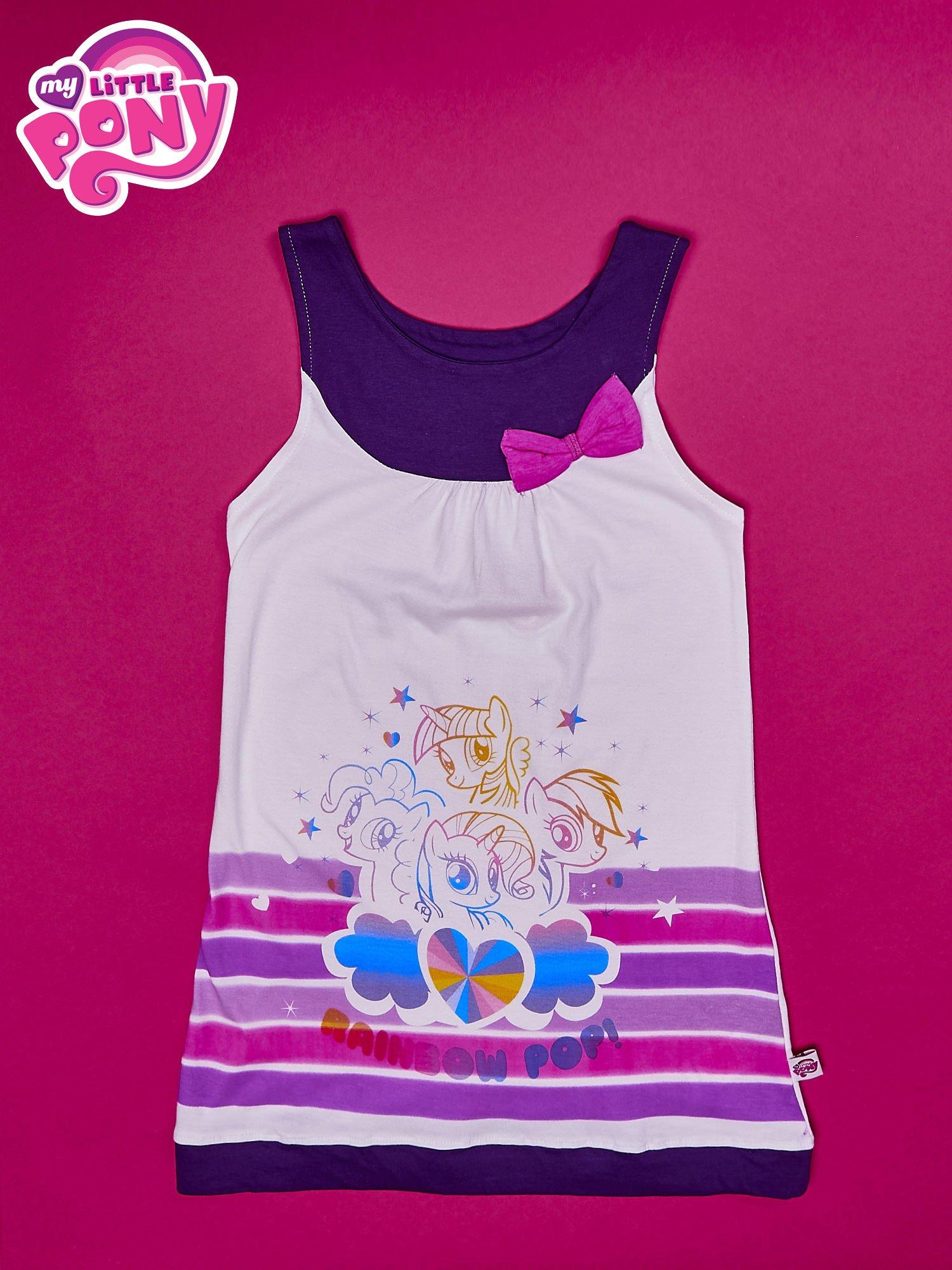 Fioletowa sukienka dla dziewczynki bez rękawów MY LITTLE PONY                                  zdj.                                  1