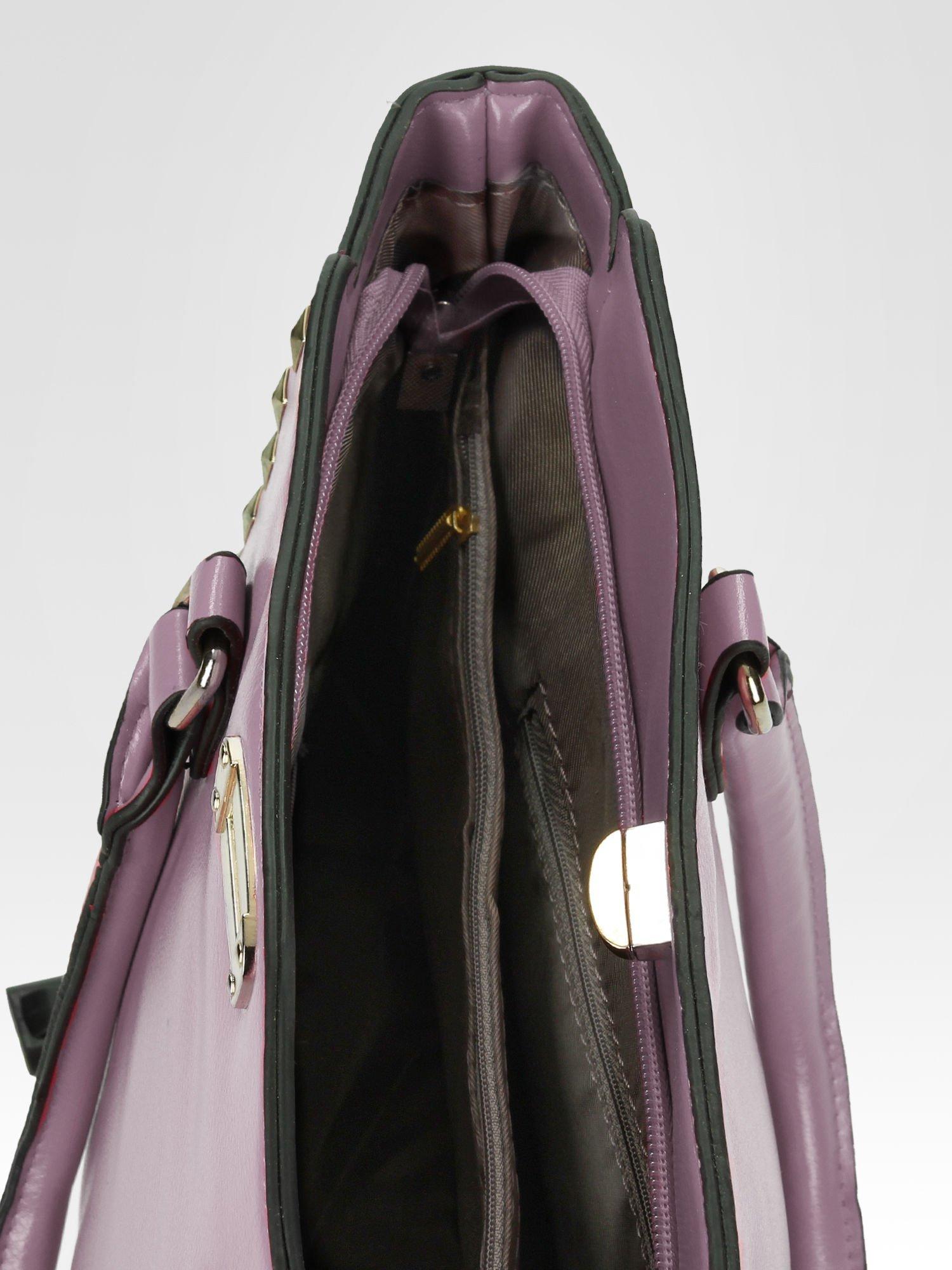 Fioletowa torebka na ramię z dżetami                                  zdj.                                  9