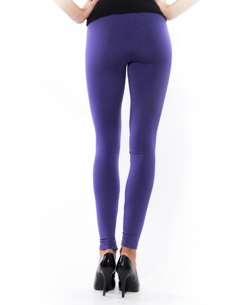 Fioletowe gładkie legginsy                                   zdj.                                  2