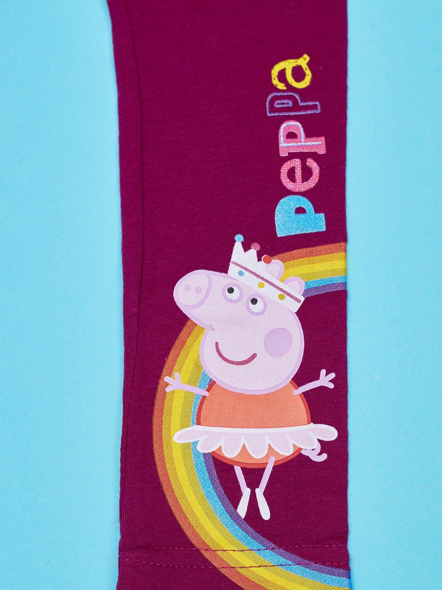 Fioletowe legginsy dla dziewczynki ŚWINKA PEPPA                                  zdj.                                  4