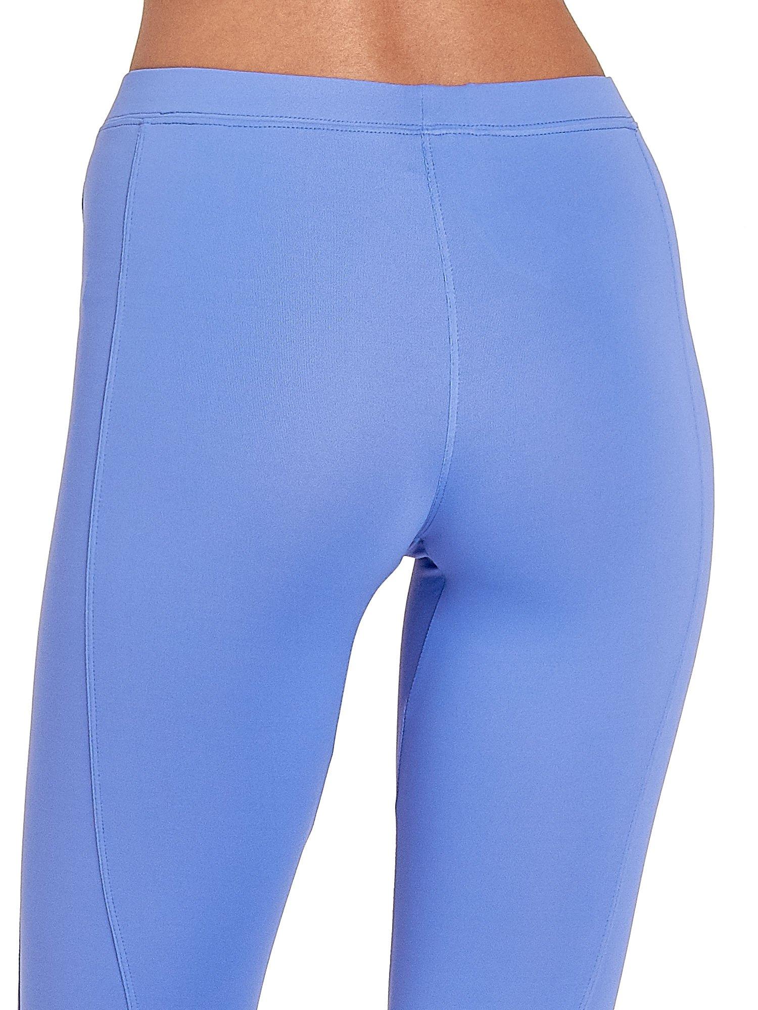 Fioletowe legginsy sportowe termalne z drapowaniem                                  zdj.                                  4