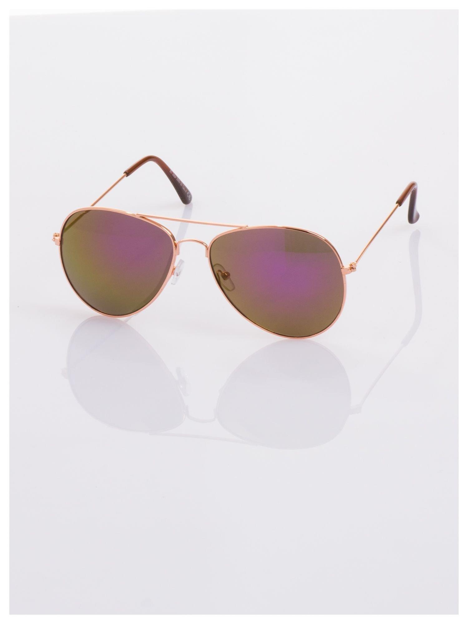 Fioletowe okulary przeciwsłoneczne pilotki AVIATORY                                  zdj.                                  1