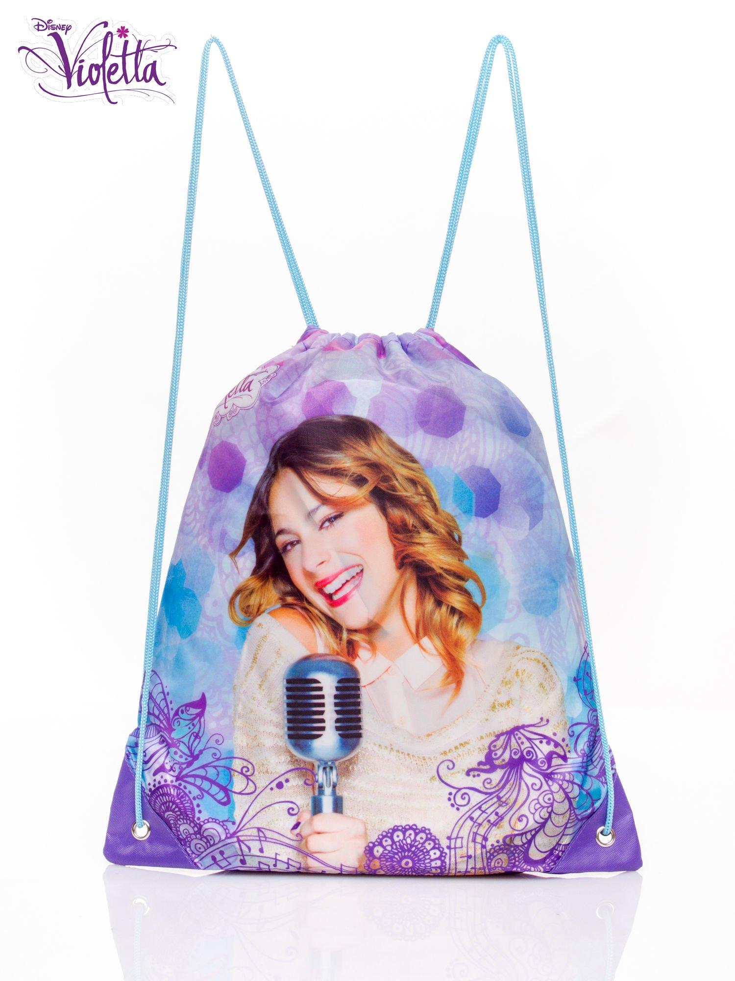 Fioletowy plecak worek DISNEY Violetta                                  zdj.                                  1