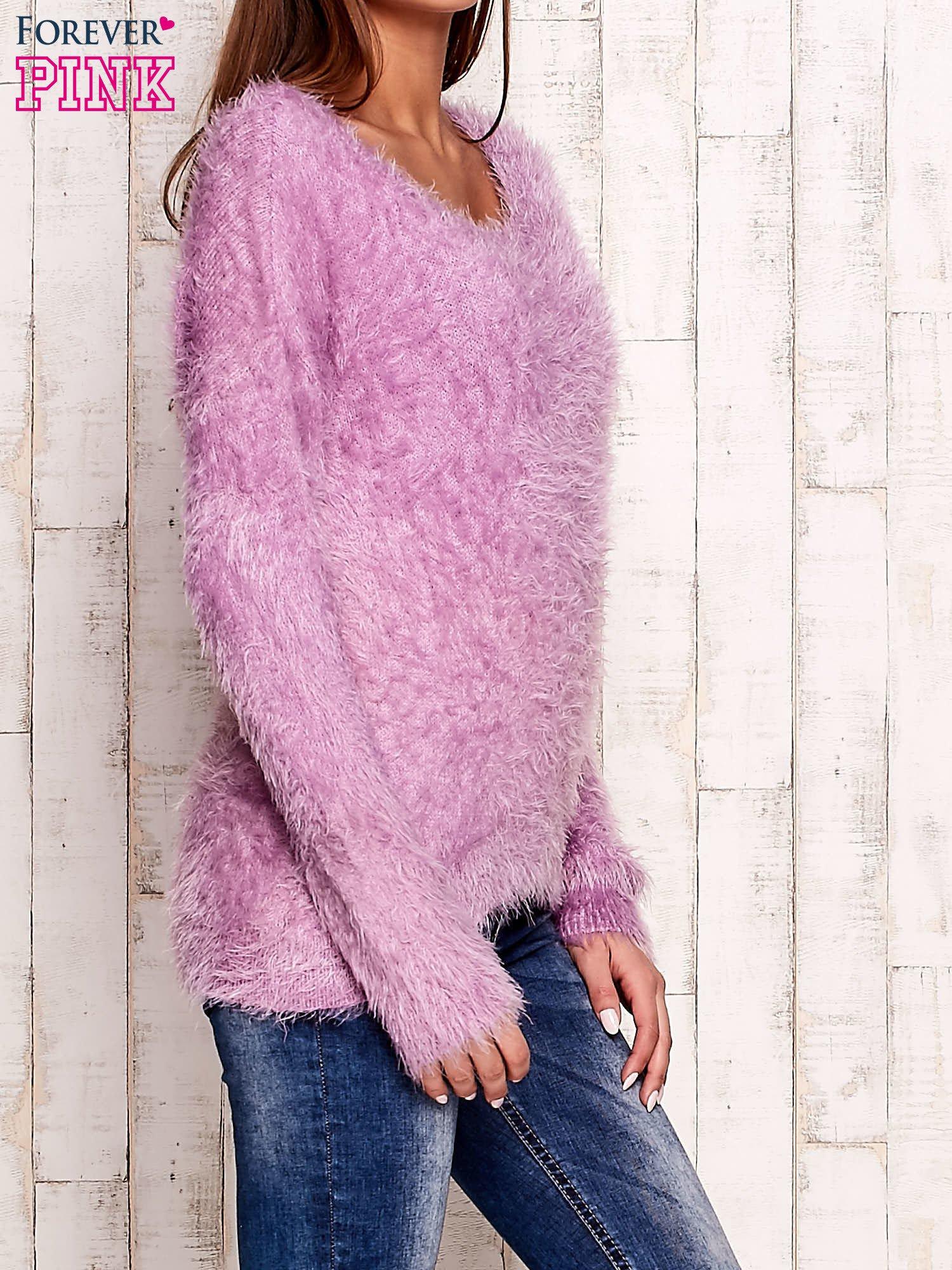 Fioletowy sweter z długim włosem                                  zdj.                                  3