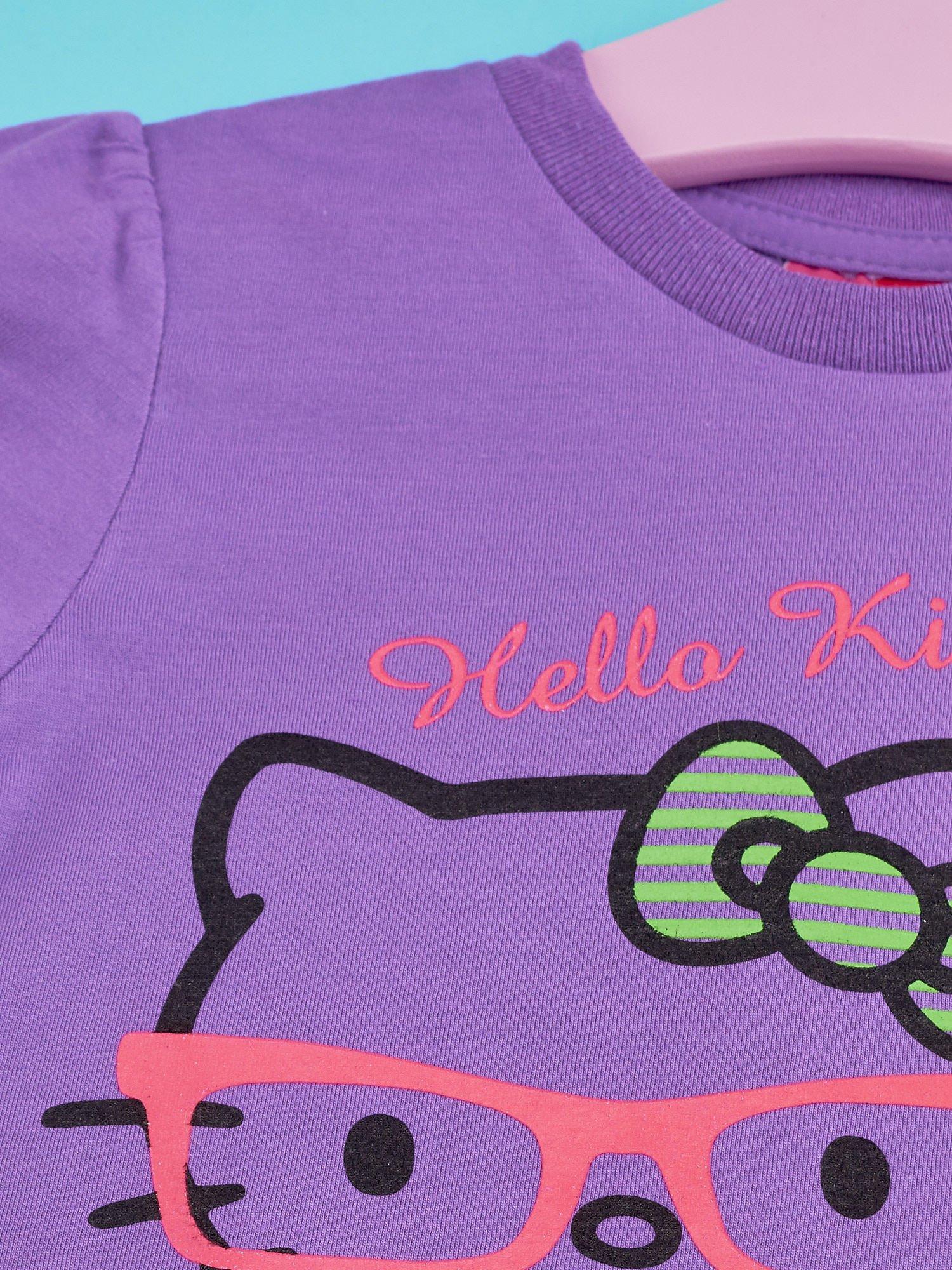 Fioletowy t-shirt dla dziewczynki HELLO KITTY                                  zdj.                                  3