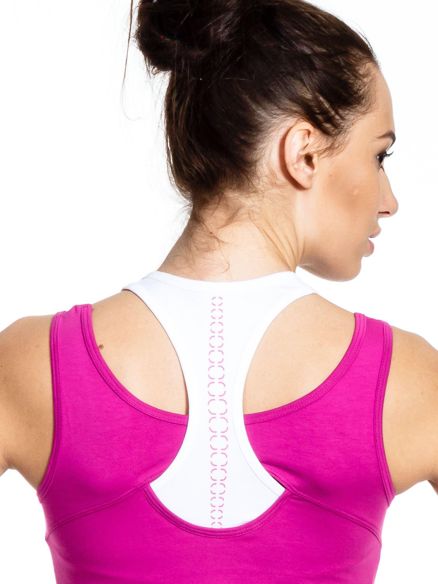 Fioletowy top sportowy z podwójnymi ramiączkami                                  zdj.                                  5