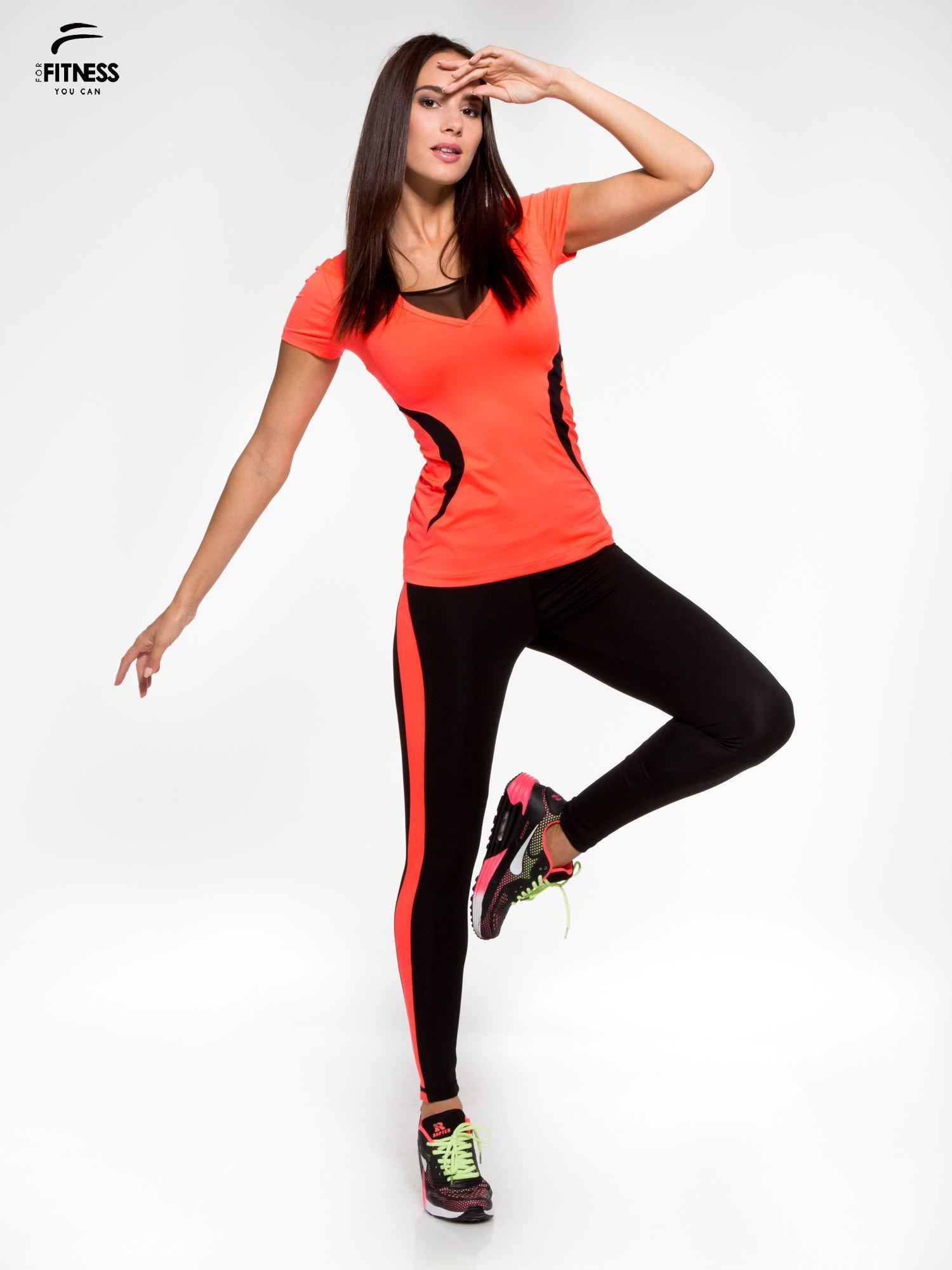 68bb2d781fab0b 4; Fluoróżowy termoaktywny t-shirt sportowy z siateczką przy dekolcie ♢ Performance  RUN ...