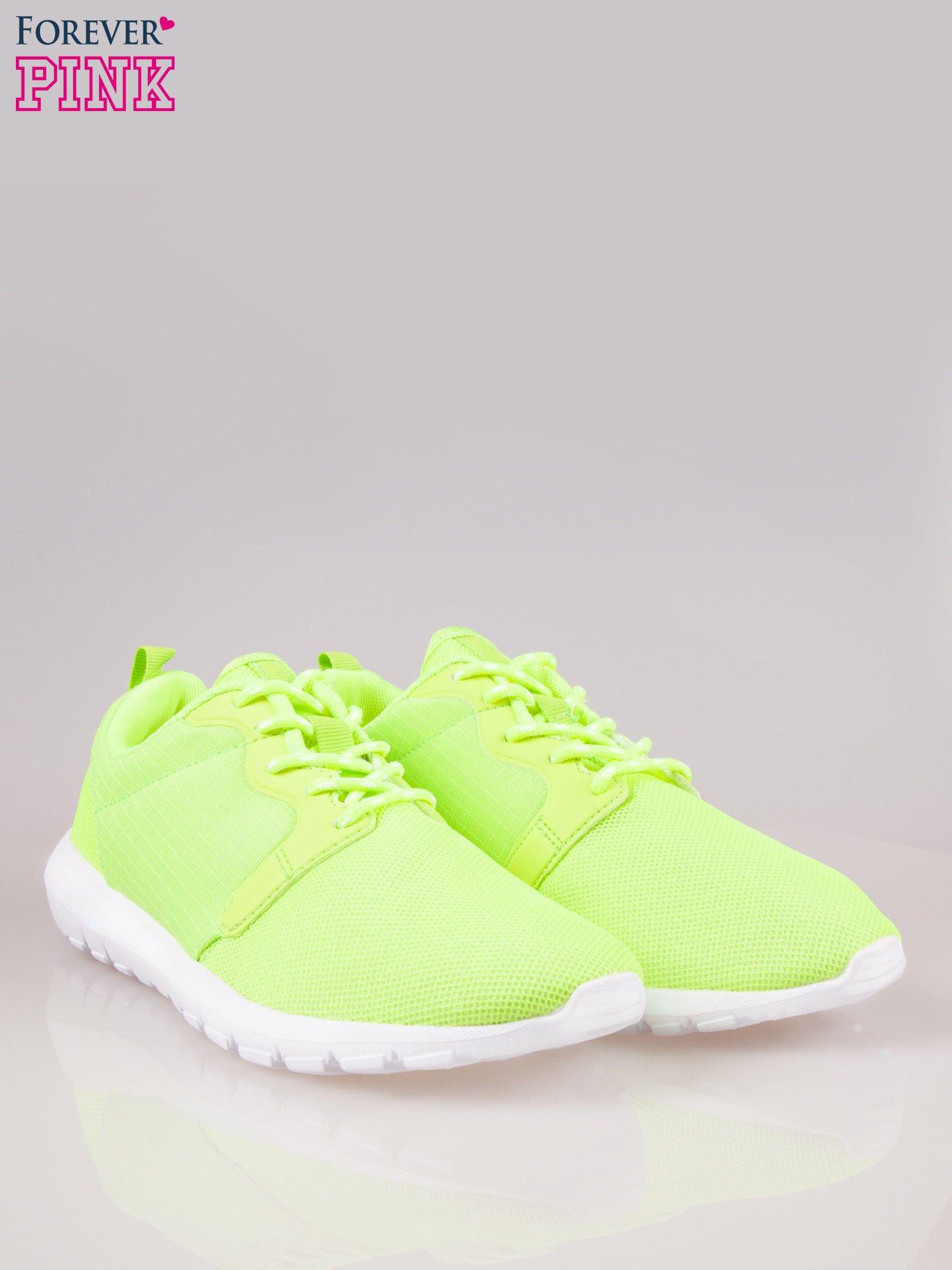 Fluozielone buty sportowe eco leather On Fire                                  zdj.                                  2