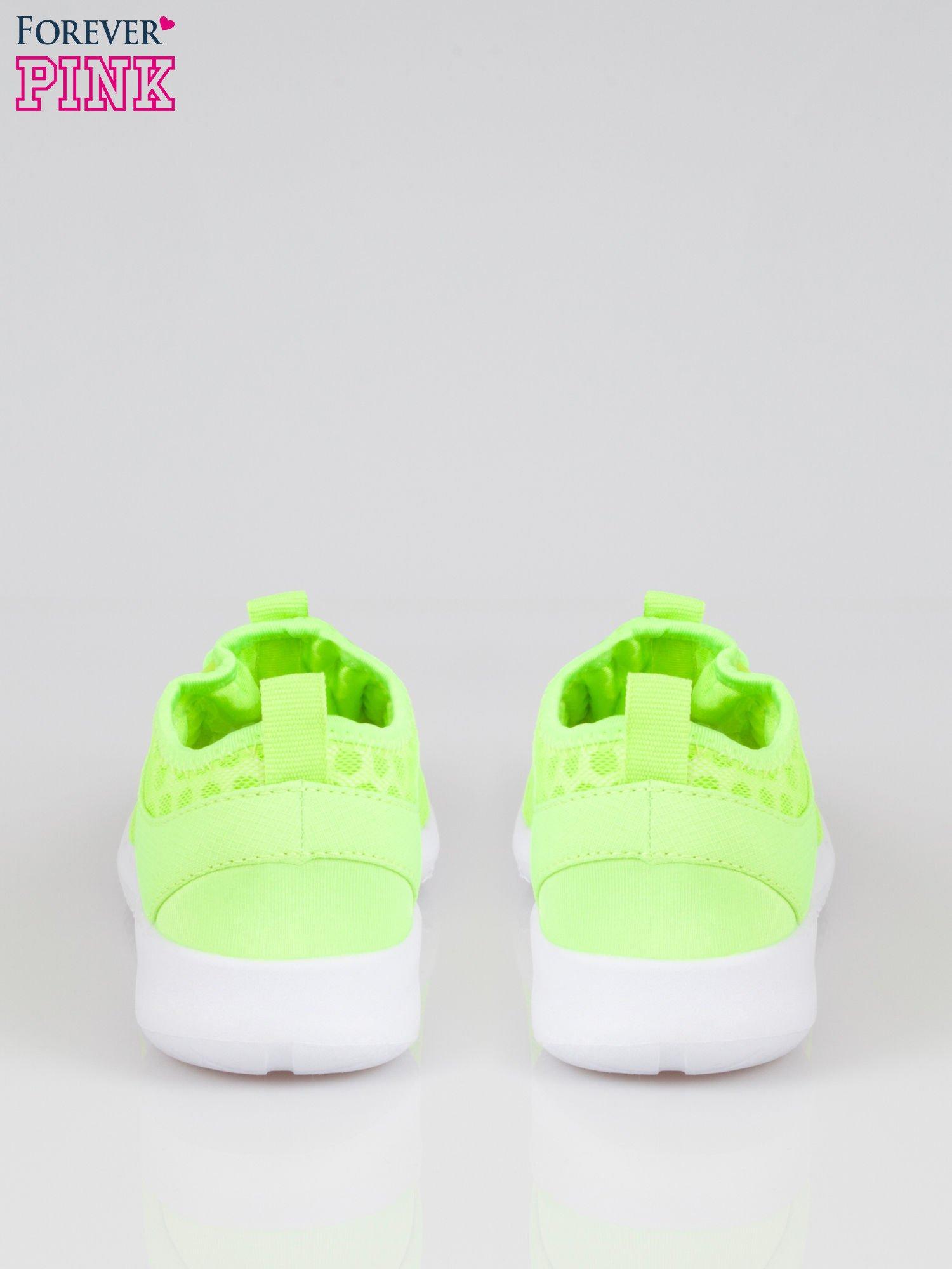 Fluożółte buty sportowe textile Drive Me Crazy z siateczki na podeszwie flex                                  zdj.                                  3
