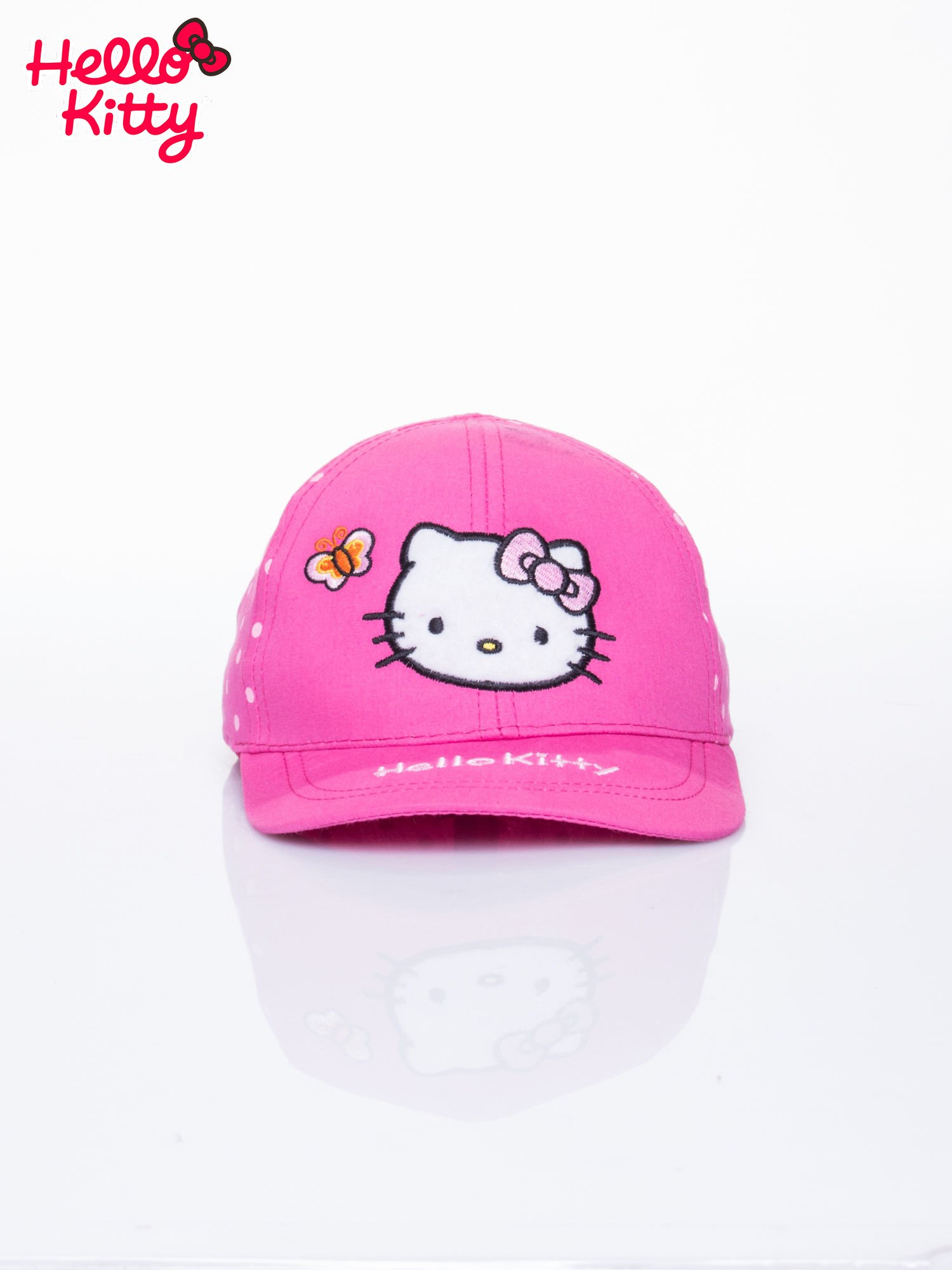 Fuksjowa czapka z daszkiem dla dziewczynki HELLO KITTY                                  zdj.                                  1