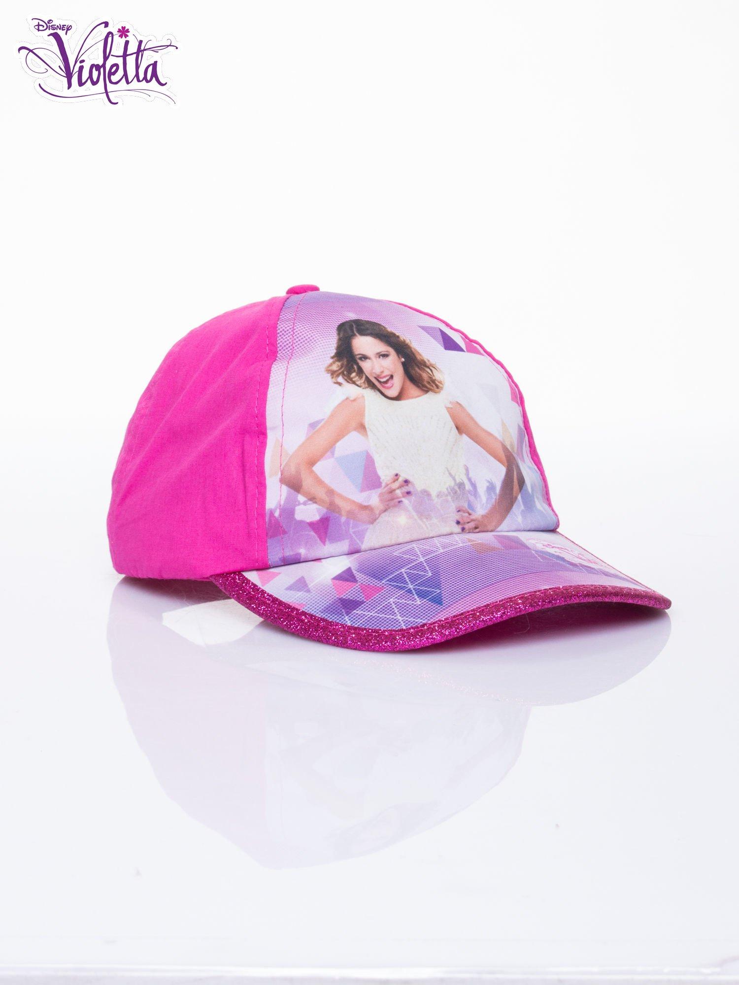 Fuksjowa czapka z daszkiem dla dziewczynki VIOLETTA                                  zdj.                                  2