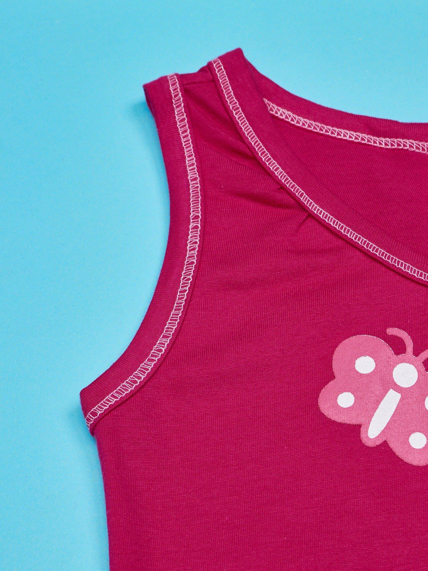 Fuksjowa sukienka dla dziewczynki bez rękawów HELLO KITTY                                   zdj.                                  3