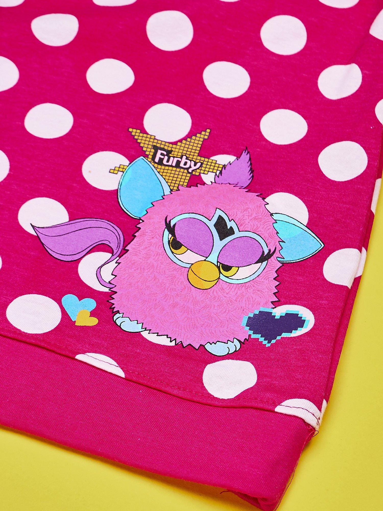 5d6345ceee Fuksjowa sukienka w groszki dla dziewczynki FURBY - Dziecko ...