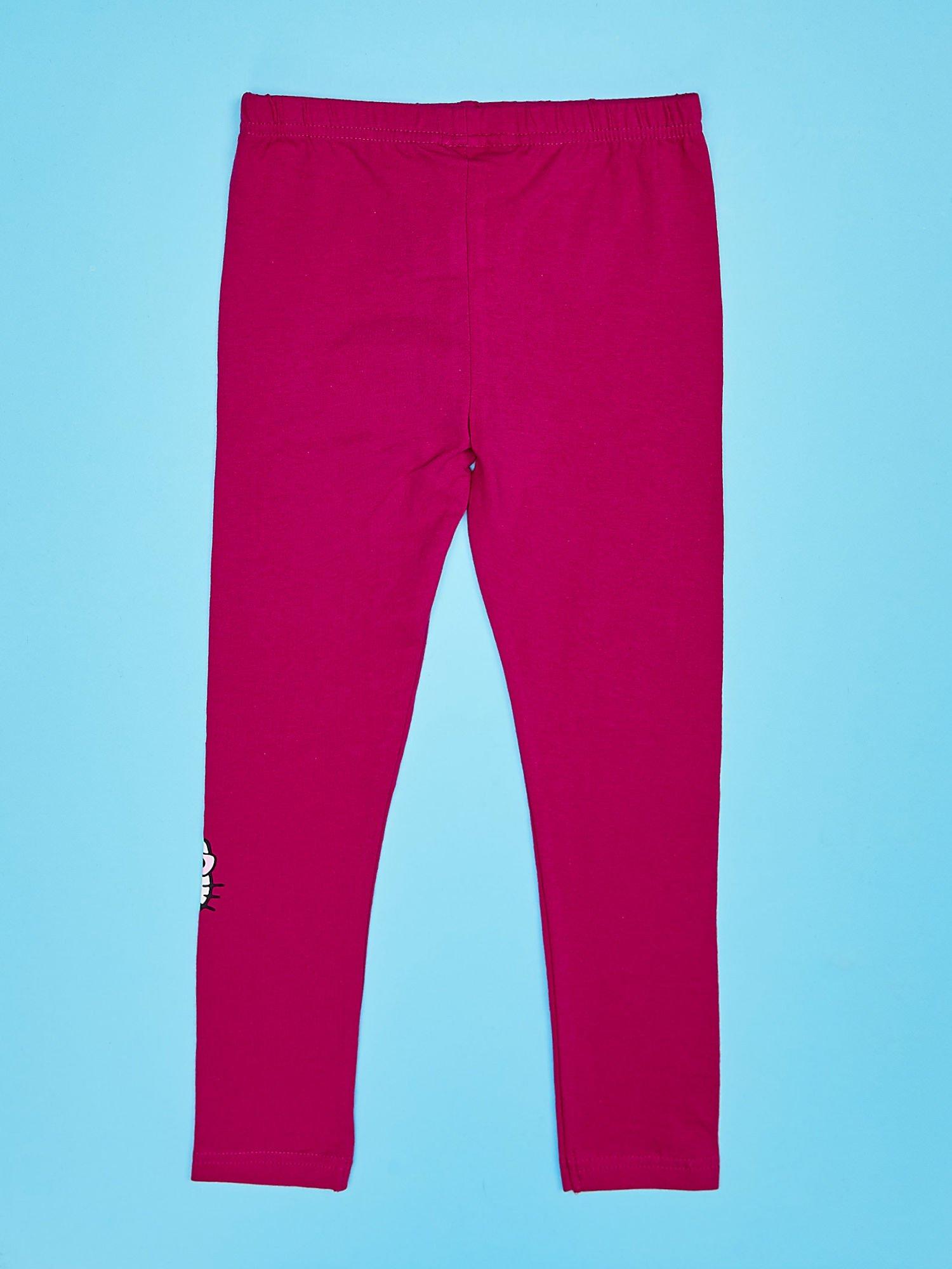 Fuksjowe legginsy dla dziewczynki z motywem HELLO KITTY                                  zdj.                                  2