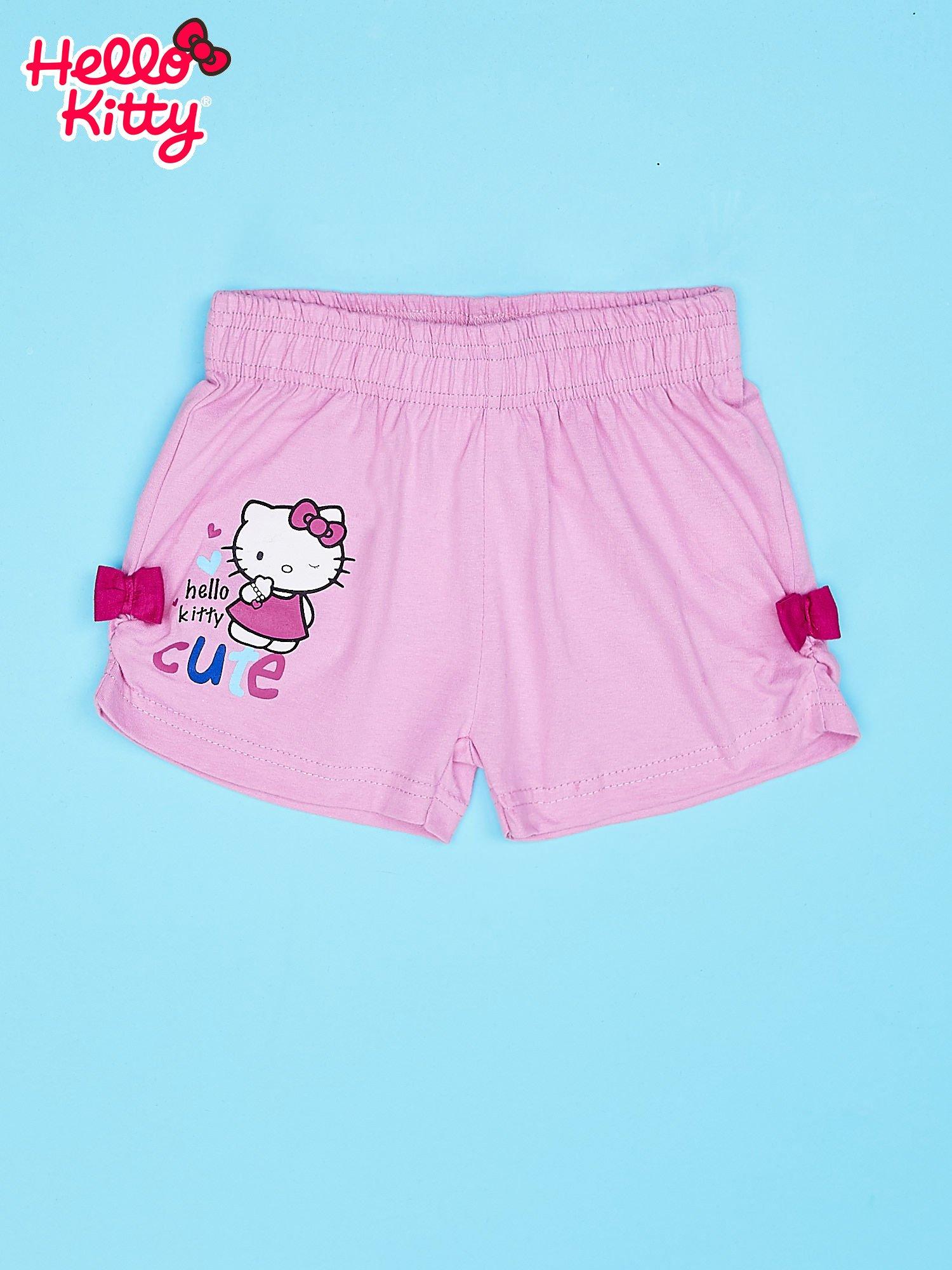 Fuksjowe szorty dla dziewczynki motyw HELLO KITTY                                  zdj.                                  1