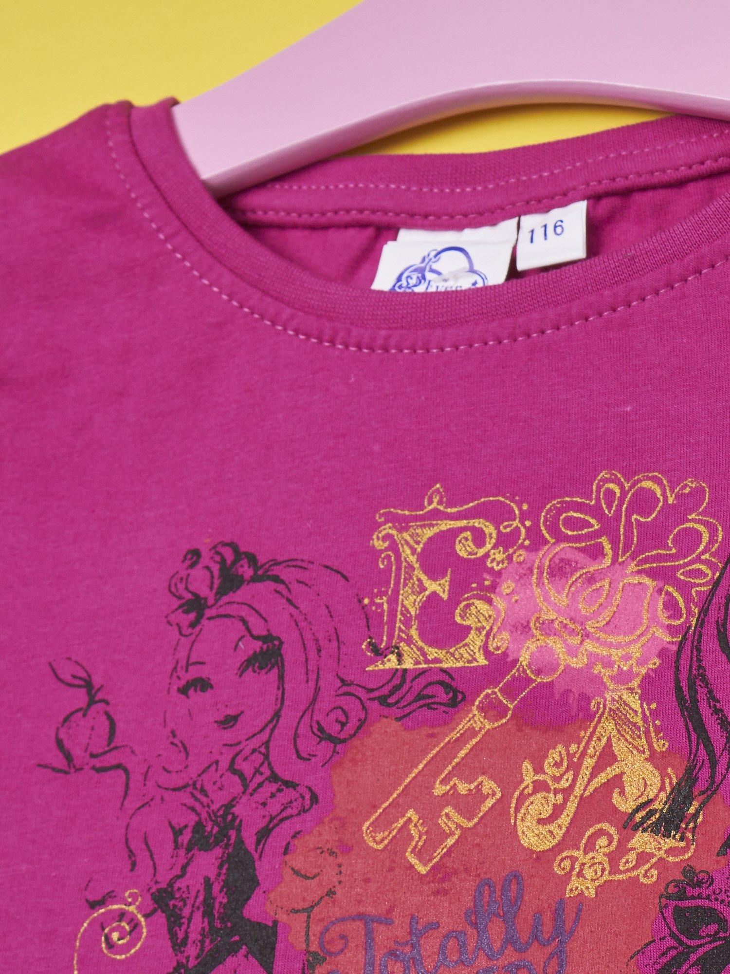 Fuksjowy t-shirt dla dziewczynki EVER AFTER HIGH                                  zdj.                                  3