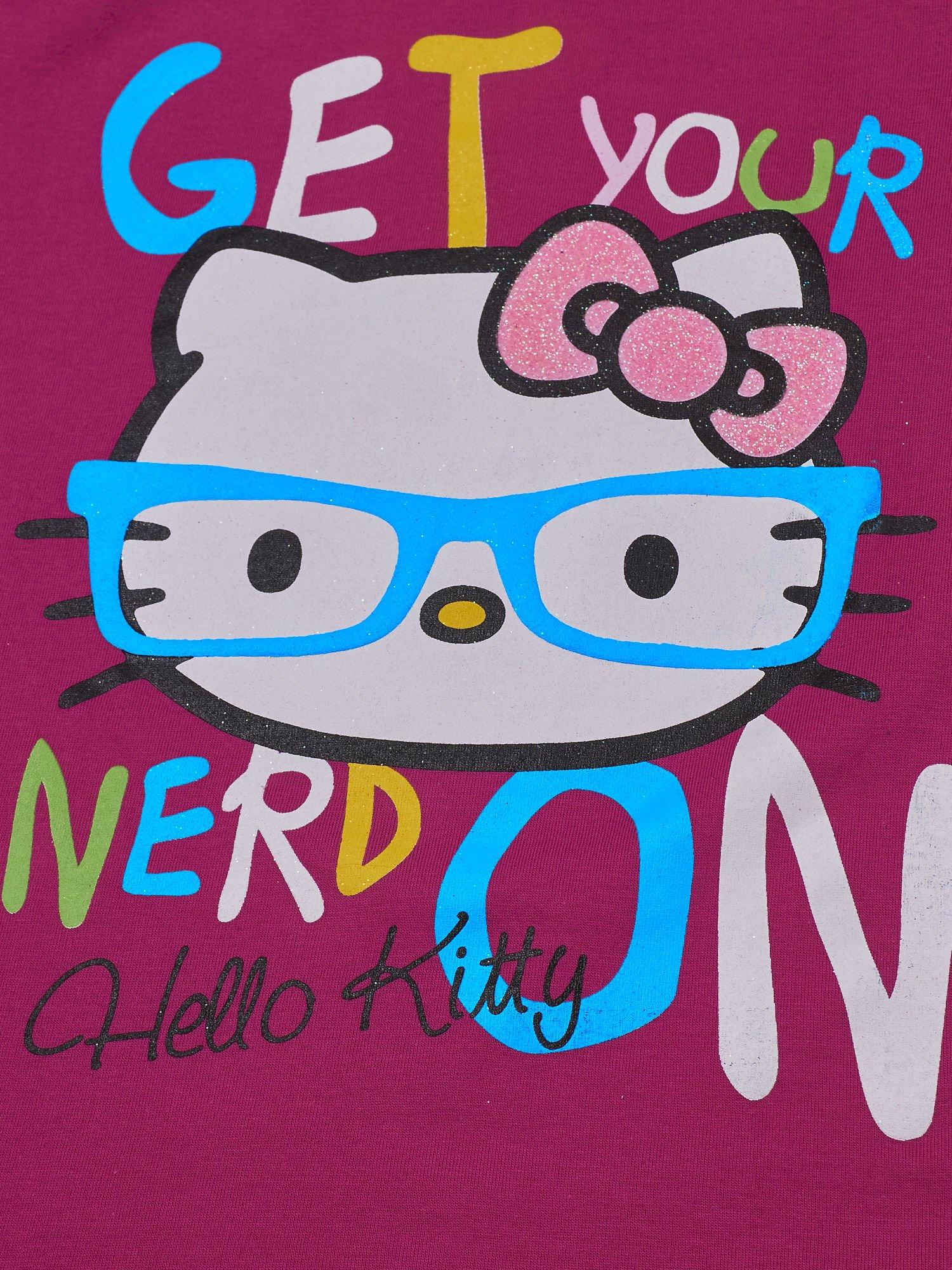 Fuksjowy t-shirt dla dziewczynki HELLO KITTY                                  zdj.                                  4