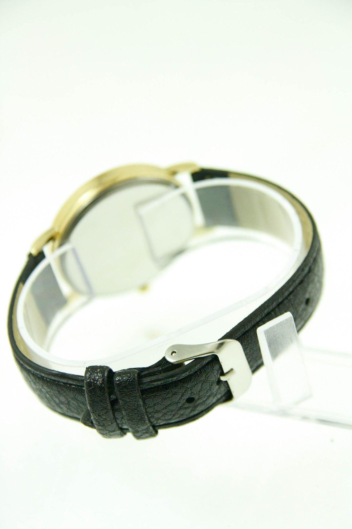 GENEVA Czarny zegarek damski na skórzanym pasku                                  zdj.                                  4