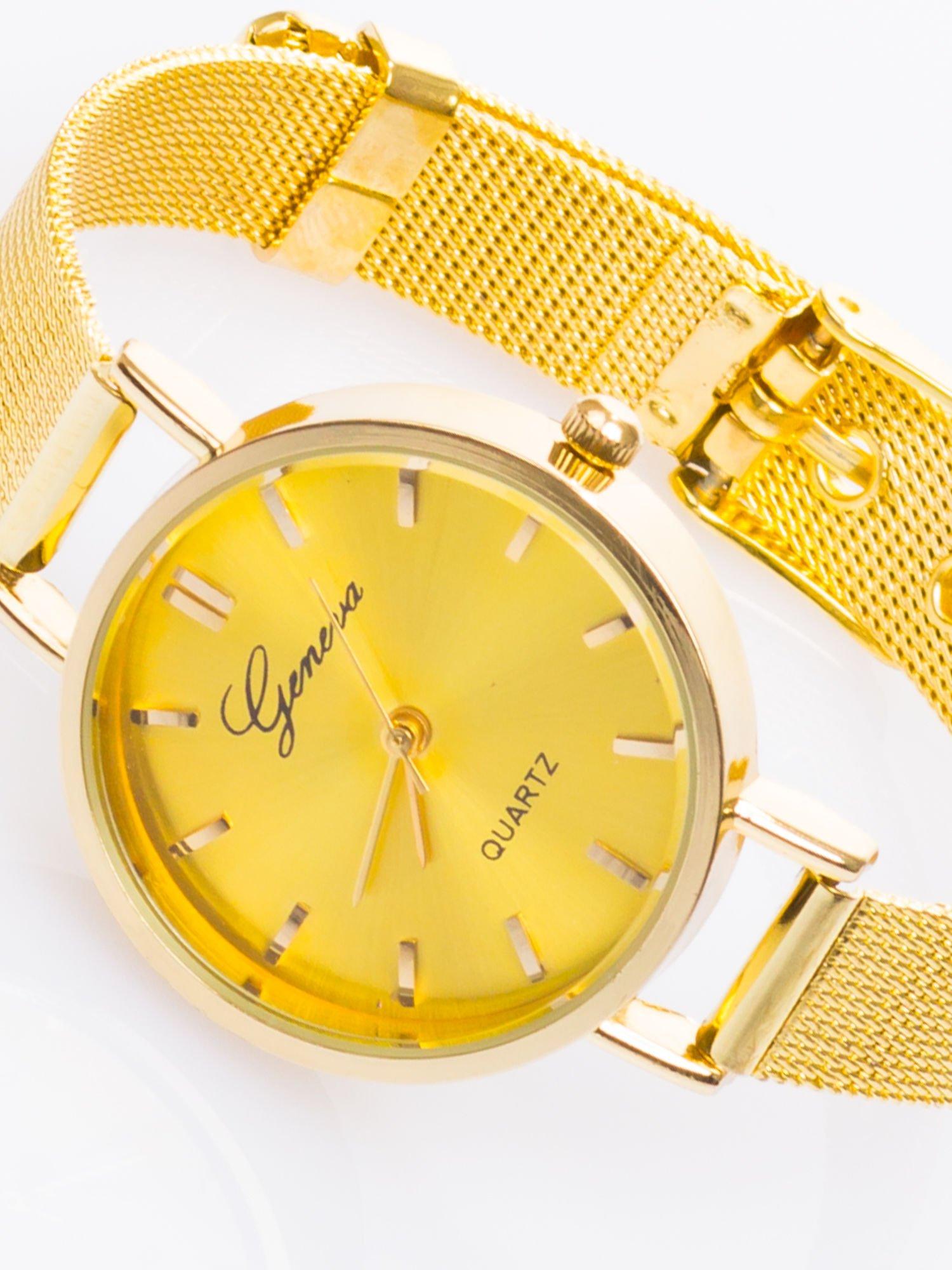 GENEVA Złoty prosty zegarek damski na bransolecie                                  zdj.                                  3