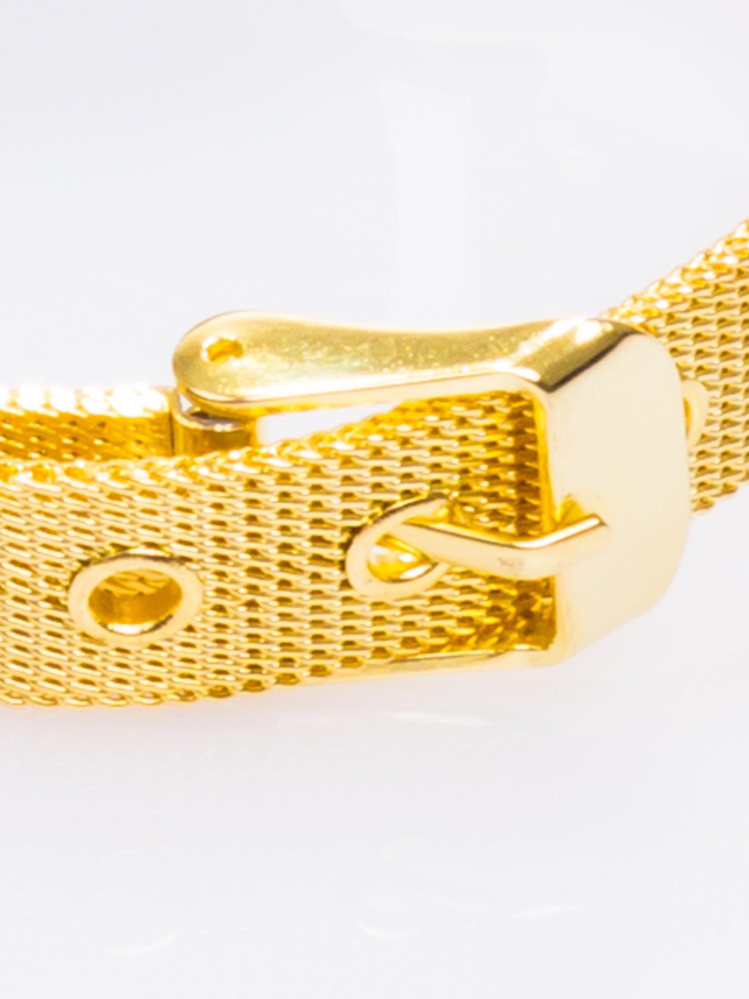 GENEVA Złoty prosty zegarek damski na bransolecie                                  zdj.                                  4