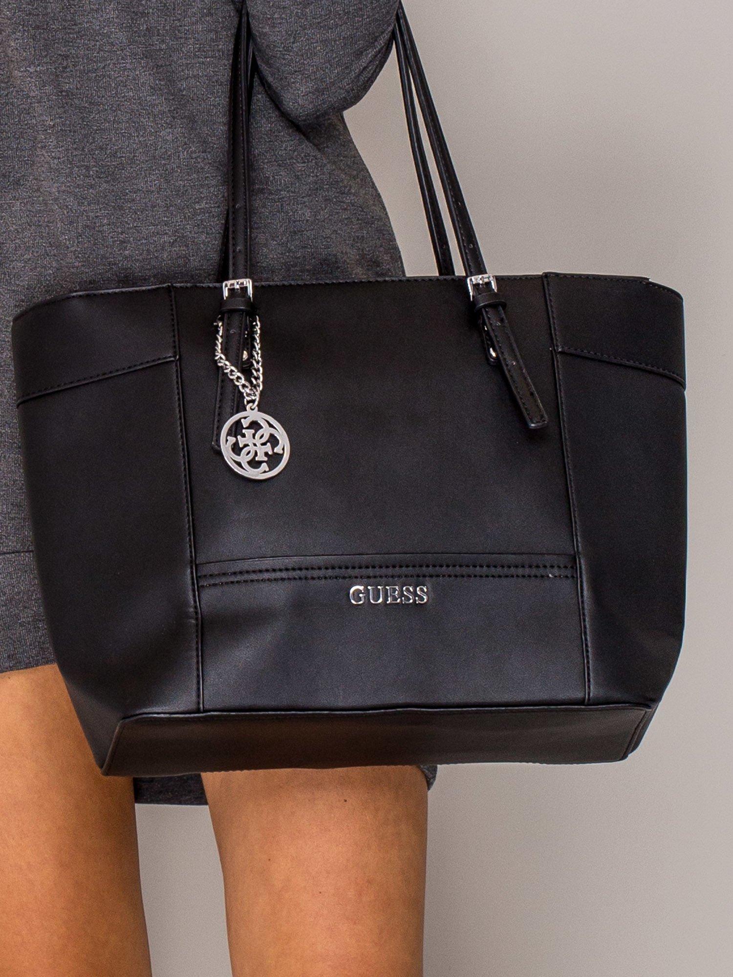 48c2a4a33549e GUESS Czarna torba shopper bag - Akcesoria torba - sklep eButik.pl