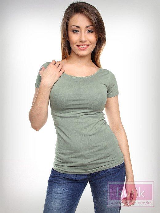 Gładki t-shirt                                  zdj.                                  3