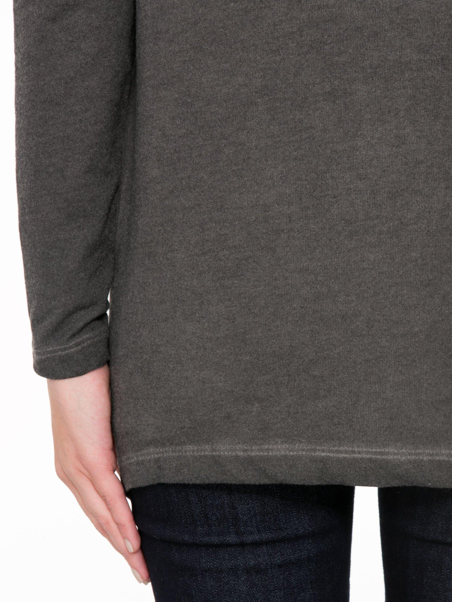 Grafitowa bluza z koronkową wstawką na plecach                                  zdj.                                  7